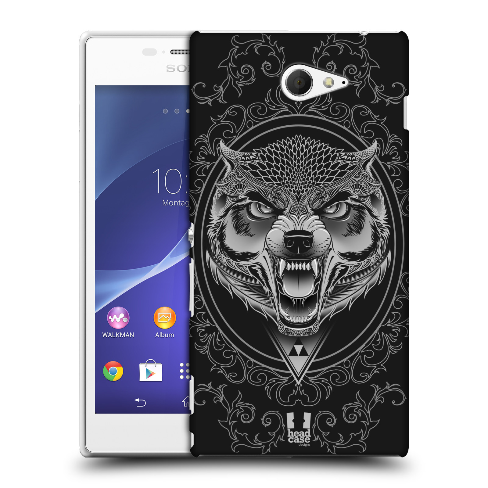 Plastové pouzdro na mobil Sony Xperia M2 D2303 - Head Case - Krutý vlk