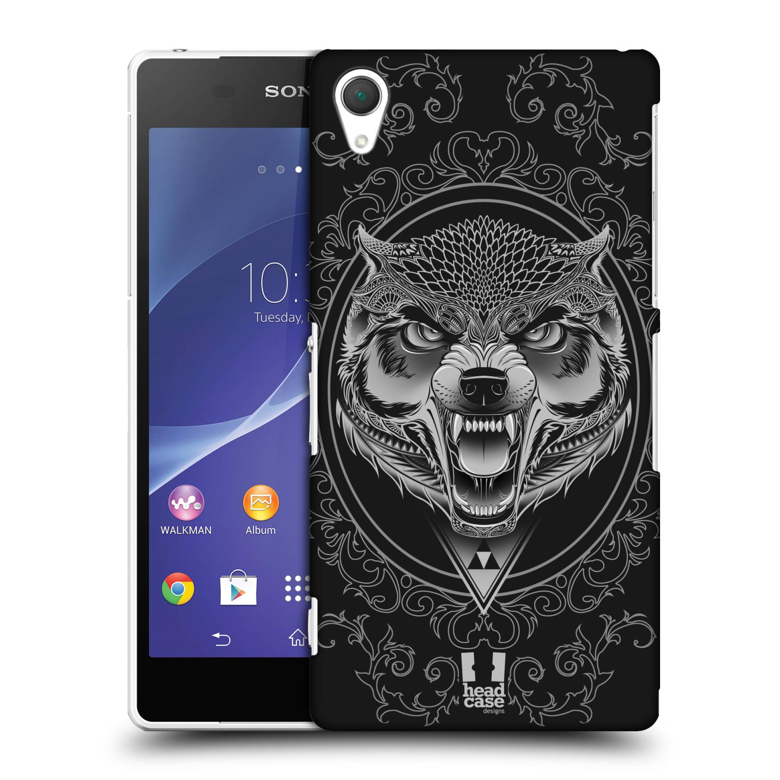 Plastové pouzdro na mobil Sony Xperia Z2 D6503 - Head Case - Krutý vlk