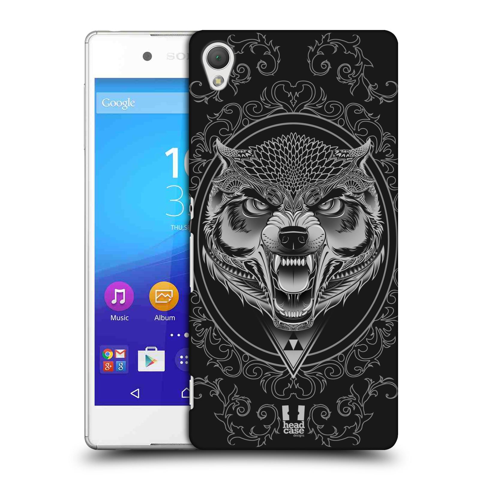 Plastové pouzdro na mobil Sony Xperia Z3+ (Plus) - Head Case - Krutý vlk
