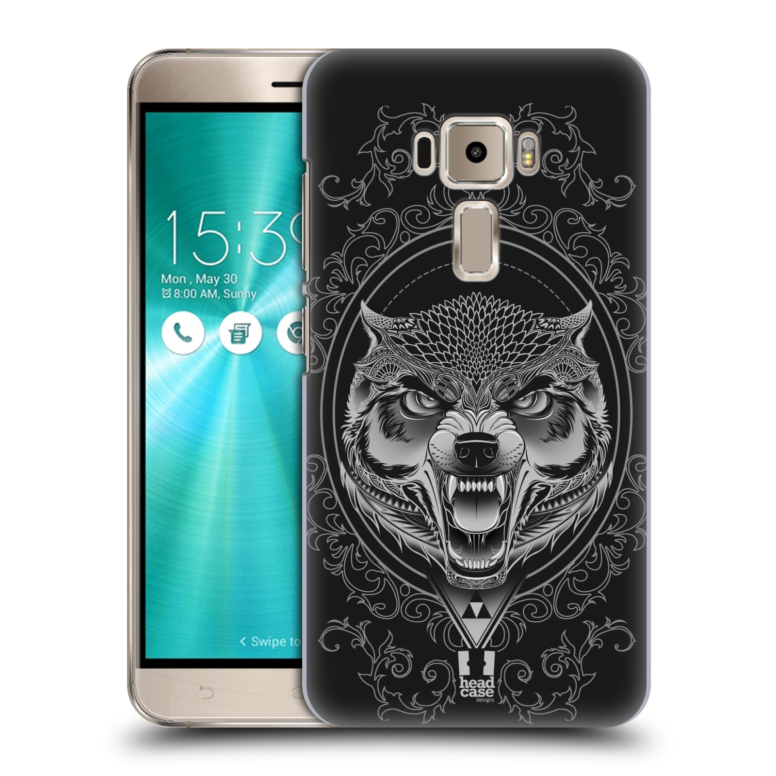 Plastové pouzdro na mobil Asus ZenFone 3 ZE520KL - Head Case - Krutý vlk