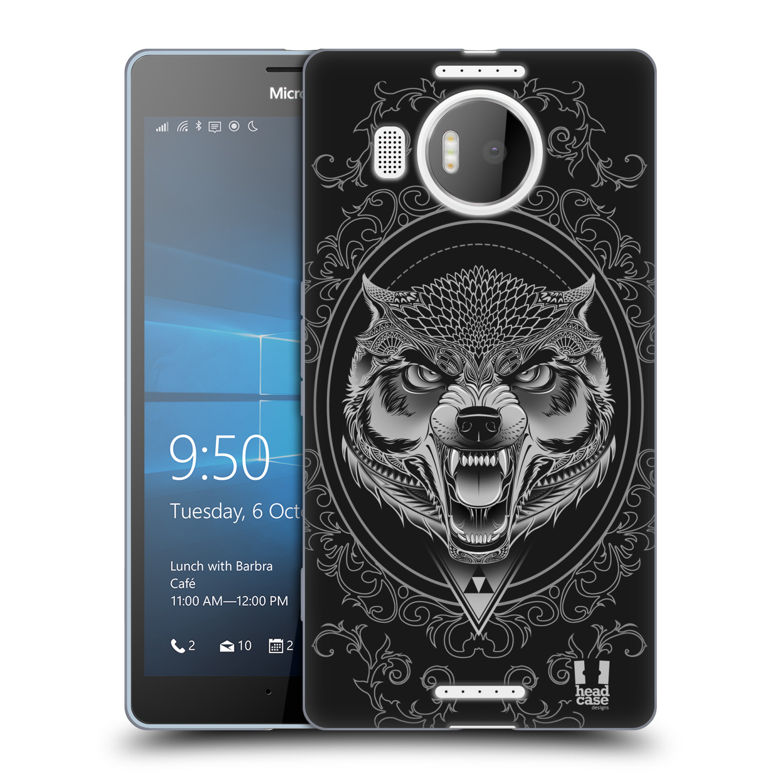 Silikonové pouzdro na mobil Microsoft Lumia 950 XL - Head Case - Krutý vlk
