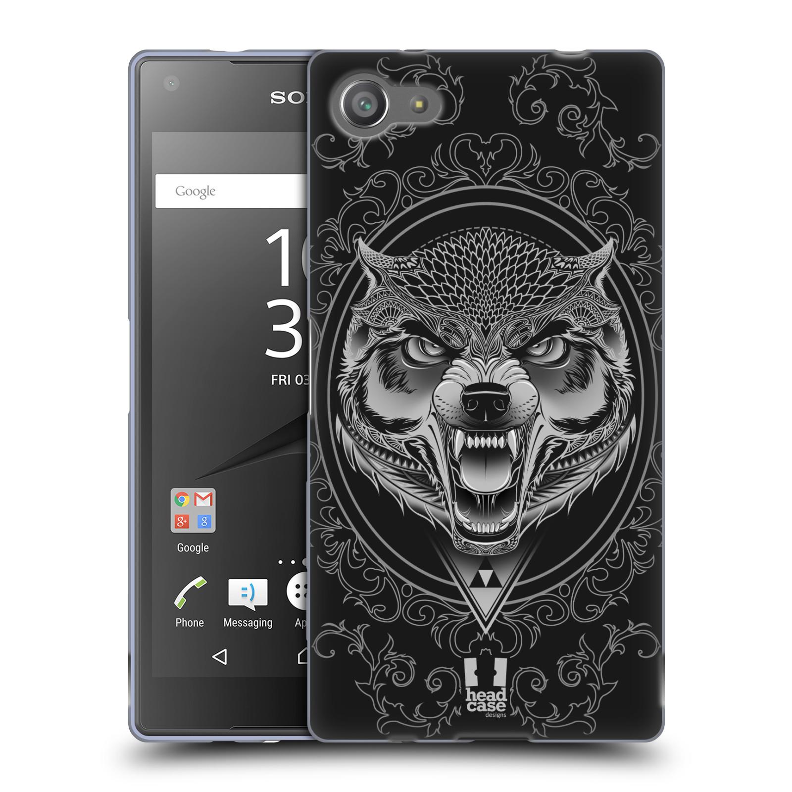 Silikonové pouzdro na mobil Sony Xperia Z5 Compact - Head Case - Krutý vlk