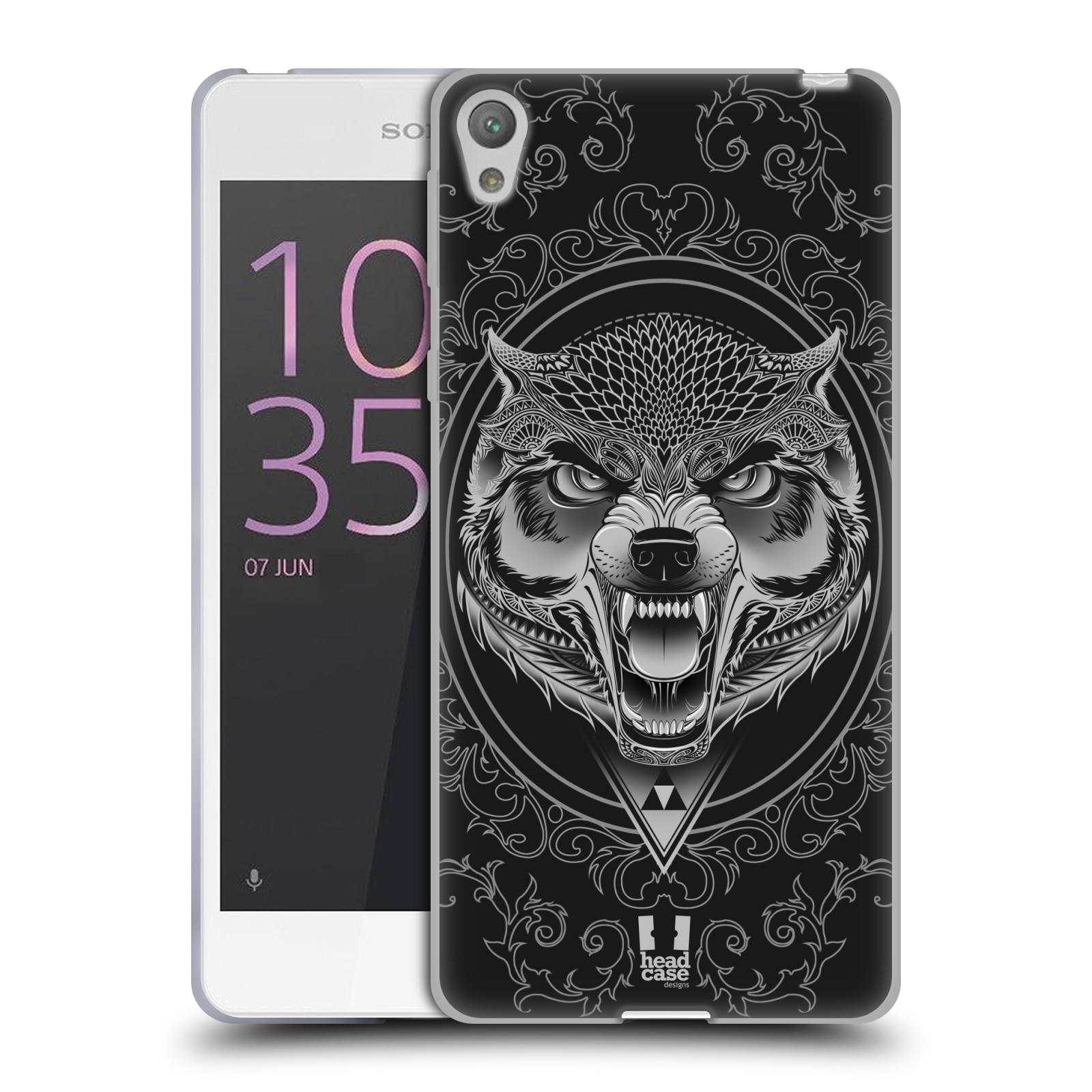 Silikonové pouzdro na mobil Sony Xperia E5 - Head Case - Krutý vlk