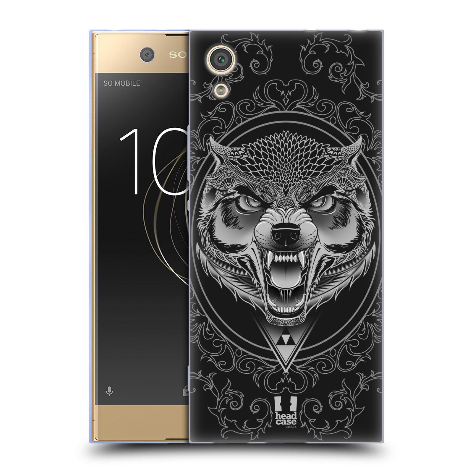 Silikonové pouzdro na mobil Sony Xperia XA1 - Head Case - Krutý vlk (Silikonový kryt či obal na mobilní telefon Sony Xperia XA1 G3121 s motivem Krutý vlk)