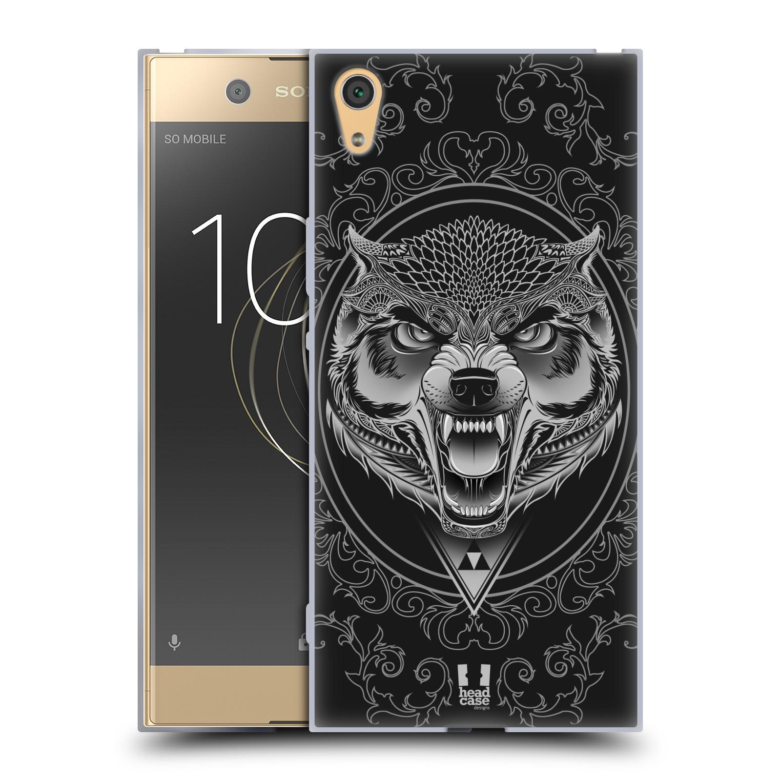 Silikonové pouzdro na mobil Sony Xperia XA1 Ultra - Head Case - Krutý vlk (Silikonový kryt či obal na mobilní telefon Sony Xperia XA1 Ultra G3221 s motivem Krutý vlk)