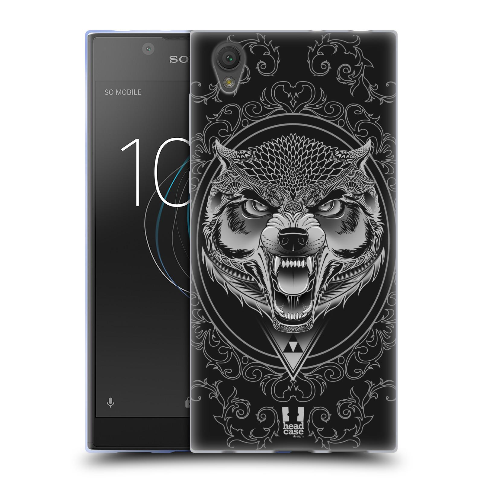 Silikonové pouzdro na mobil Sony Xperia L1 - Head Case - Krutý vlk (Silikonový kryt či obal na mobilní telefon Sony Xperia L1 G3311 s motivem Krutý vlk)