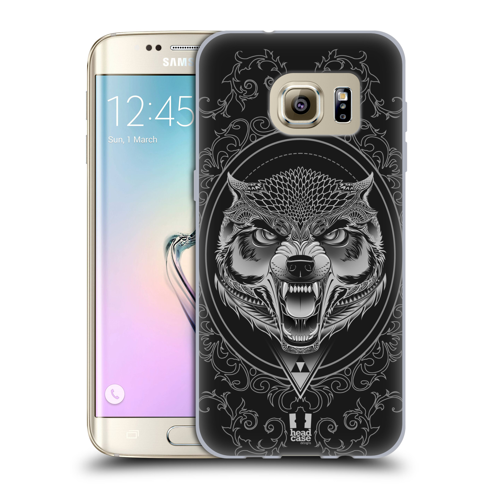 Silikonové pouzdro na mobil Samsung Galaxy S7 Edge - Head Case - Krutý vlk