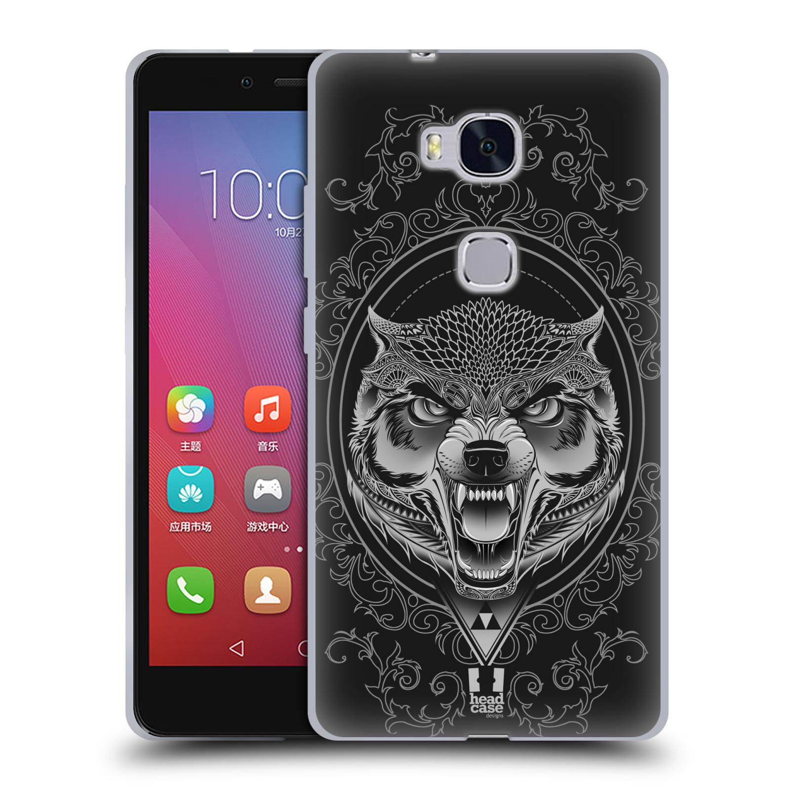 Silikonové pouzdro na mobil Honor 5X - Head Case - Krutý vlk