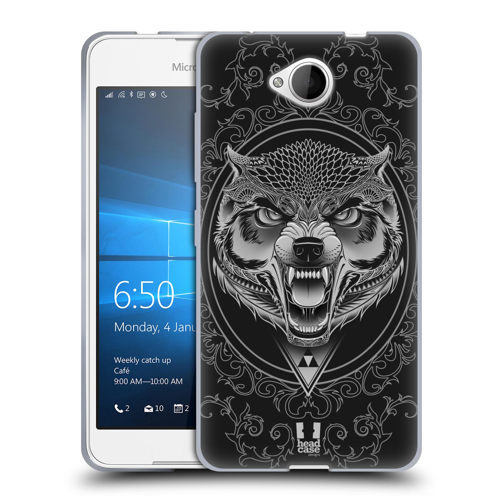 Silikonové pouzdro na mobil Microsoft Lumia 650 - Head Case - Krutý vlk
