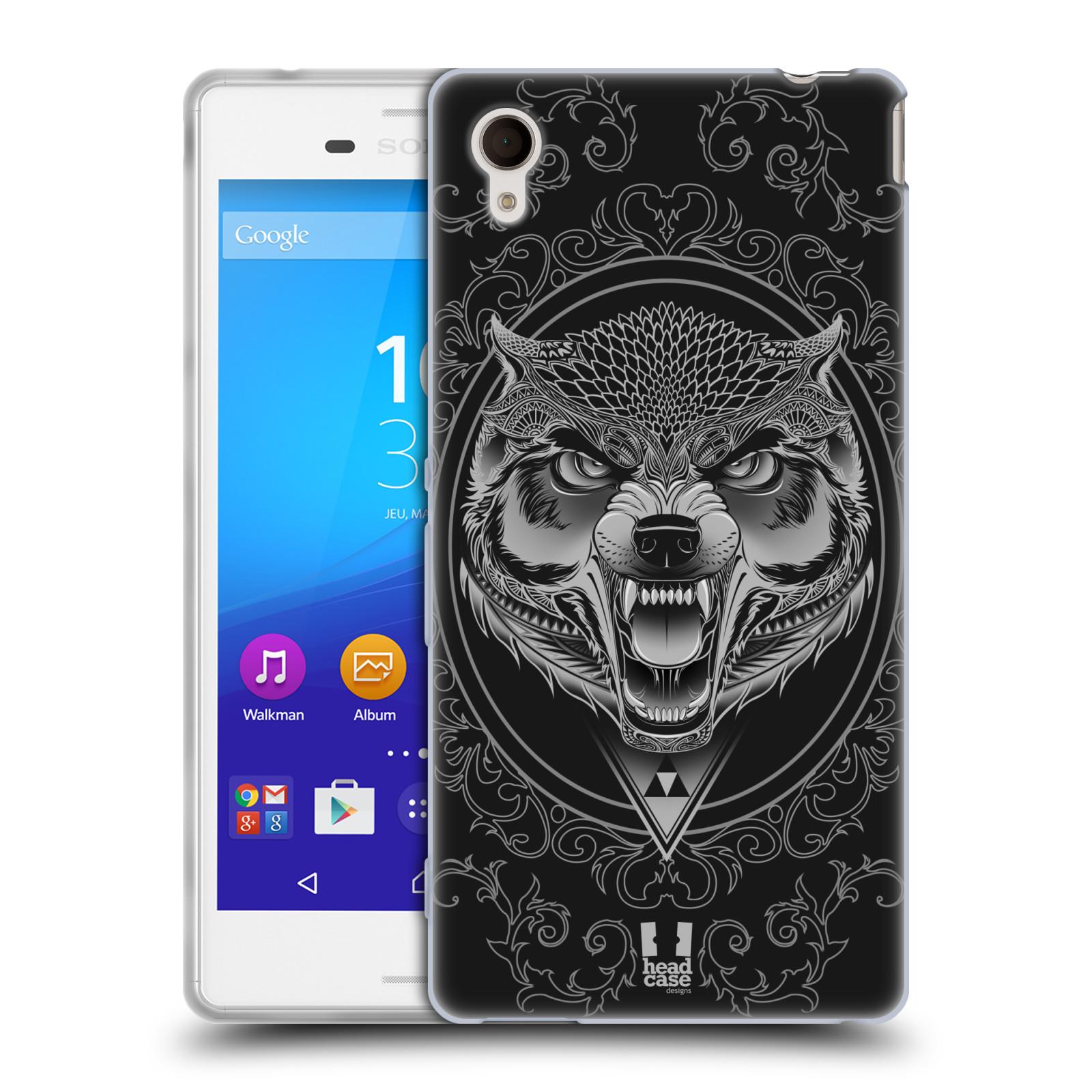 Silikonové pouzdro na mobil Sony Xperia M4 Aqua E2303 - Head Case - Krutý vlk