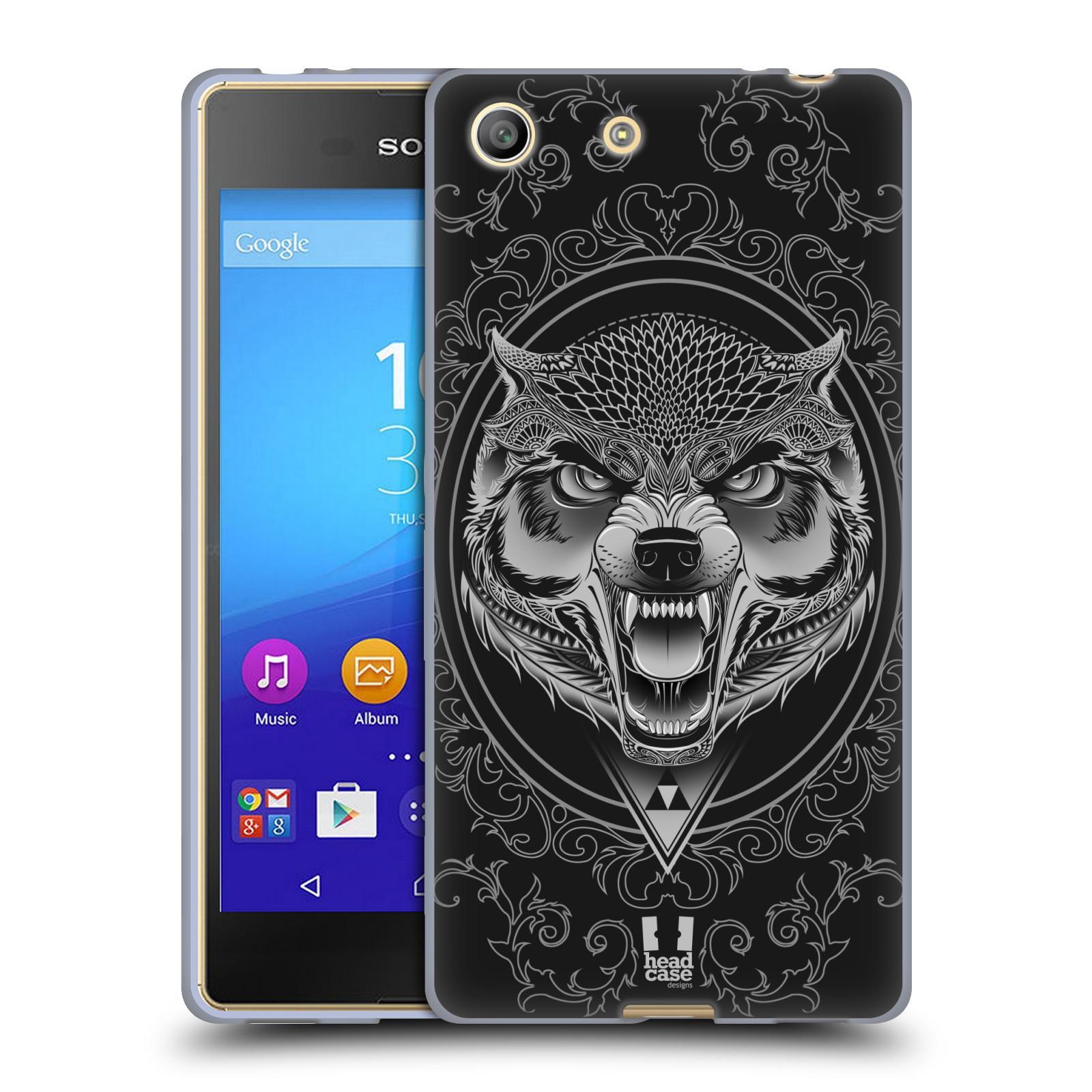 Silikonové pouzdro na mobil Sony Xperia M5 - Head Case - Krutý vlk
