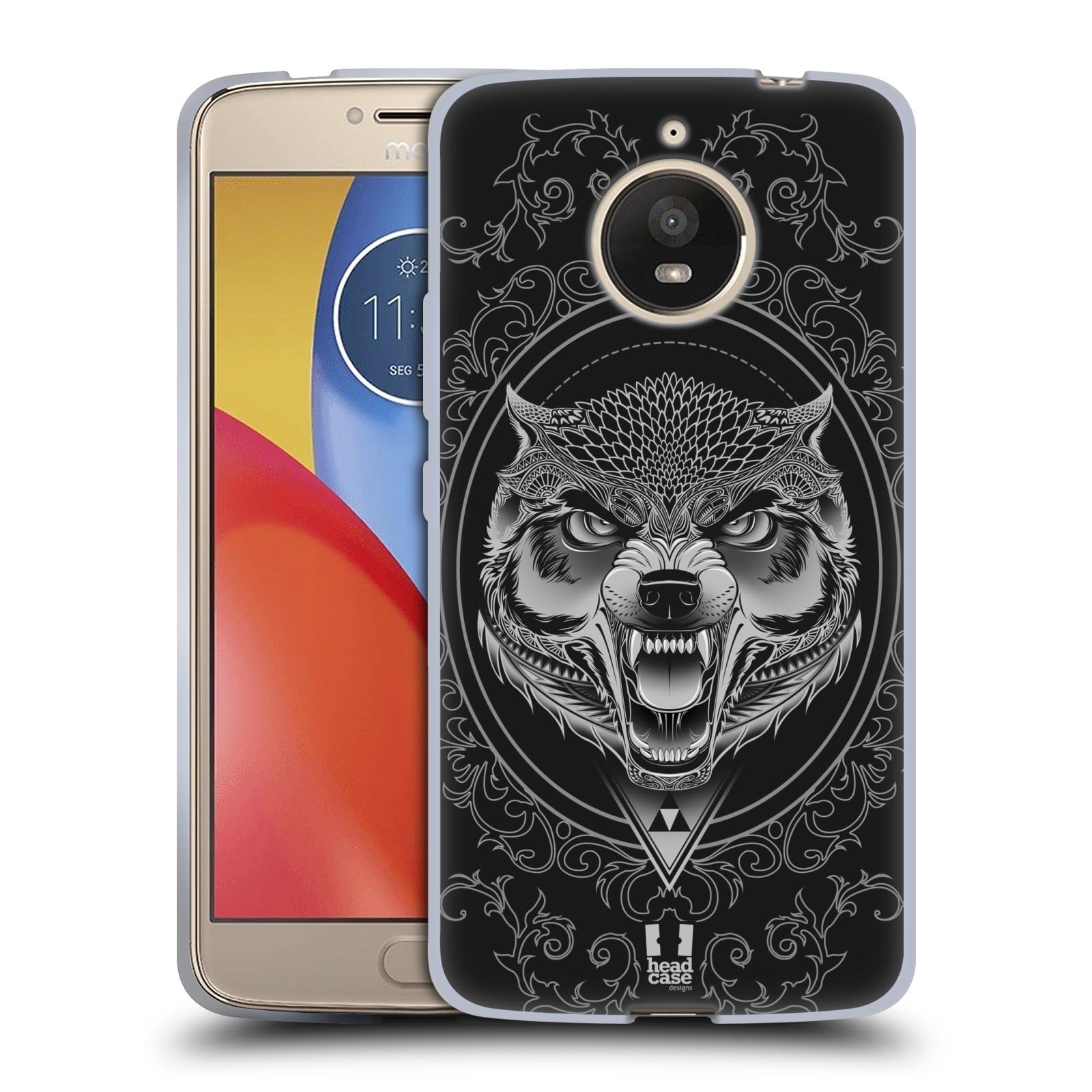 Silikonové pouzdro na mobil Lenovo Moto E4 Plus - Head Case - Krutý vlk (Silikonový kryt či obal na mobilní telefon Lenovo Moto E4 Plus s motivem Krutý vlk)