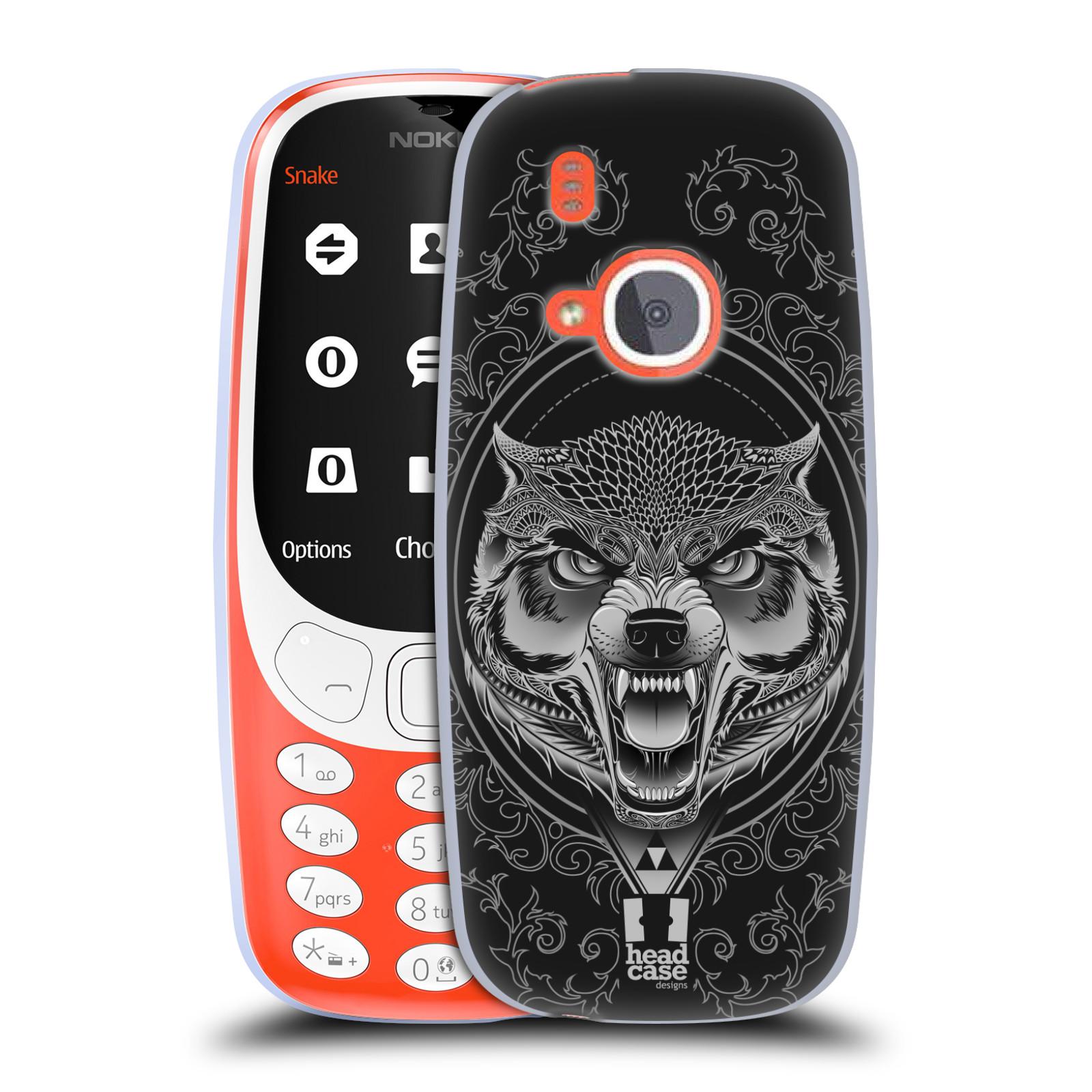 Silikonové pouzdro na mobil Nokia 3310 - Head Case - Krutý vlk (Silikonový kryt či obal na mobilní telefon Nokia 3310 (2017) s motivem Krutý vlk)