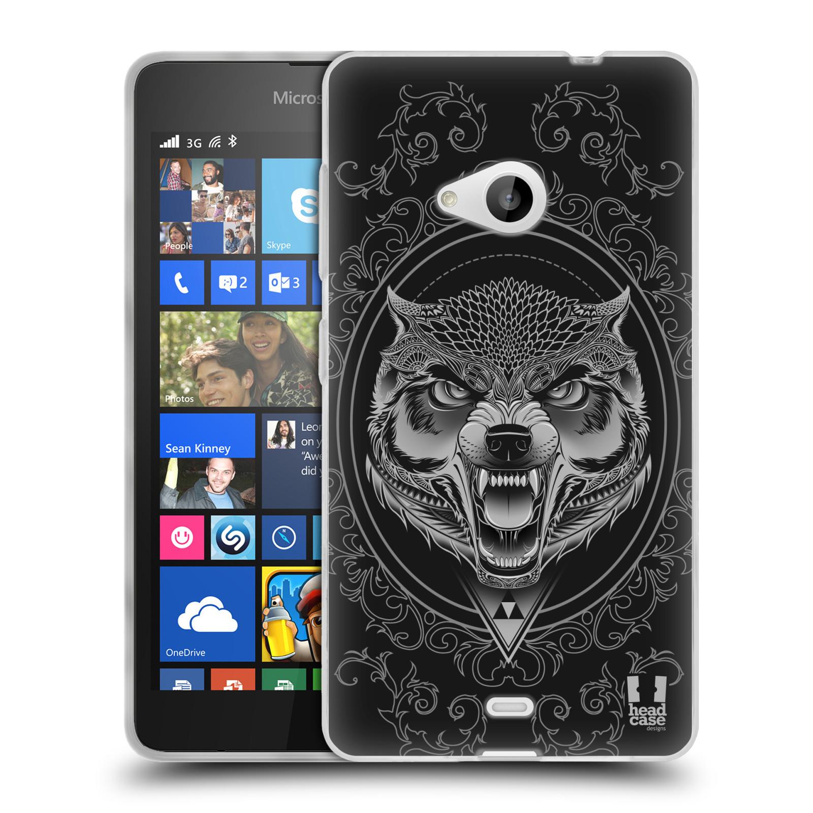 Silikonové pouzdro na mobil Microsoft Lumia 535 - Head Case - Krutý vlk