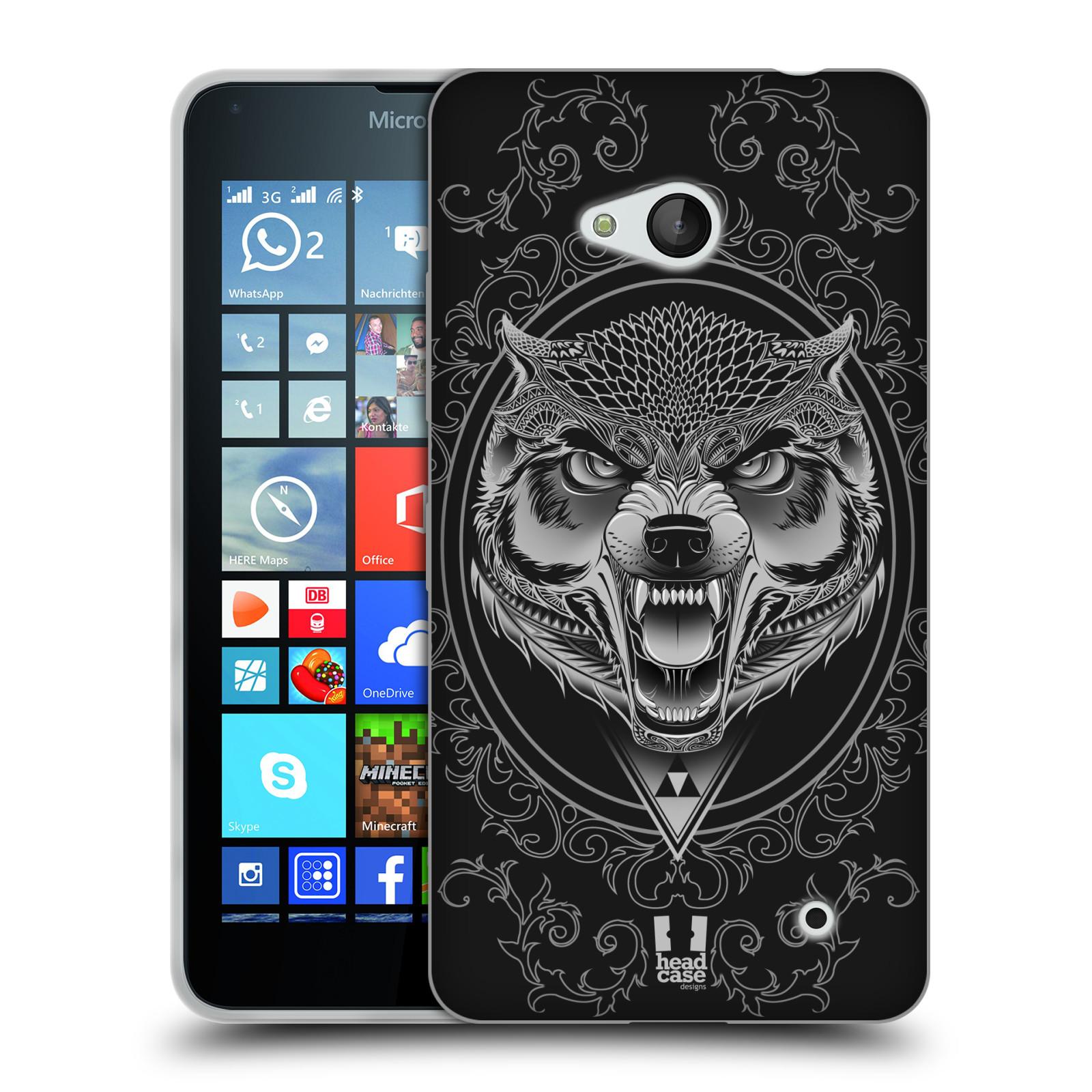 Silikonové pouzdro na mobil Microsoft Lumia 640 - Head Case - Krutý vlk
