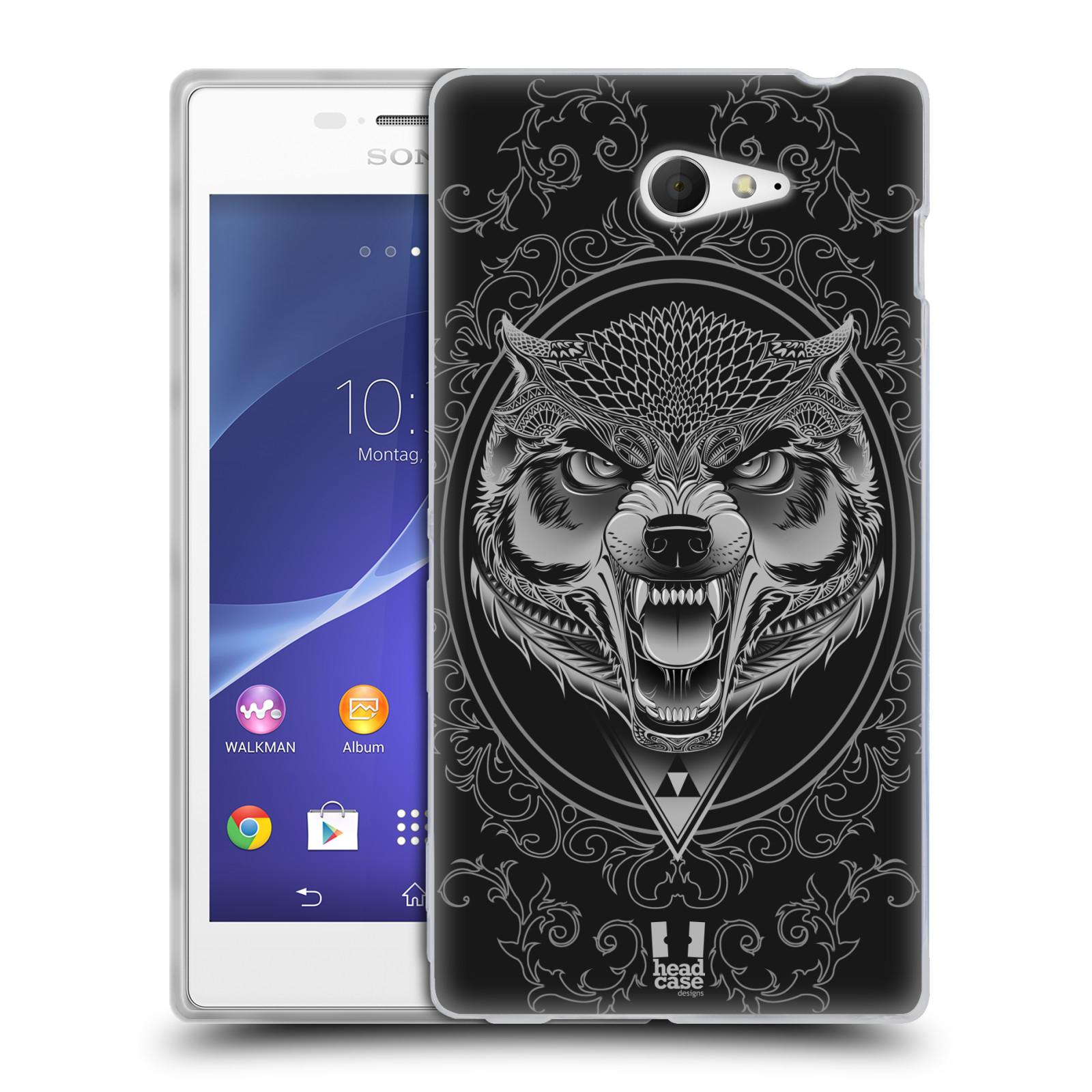 Silikonové pouzdro na mobil Sony Xperia M2 D2303 - Head Case - Krutý vlk