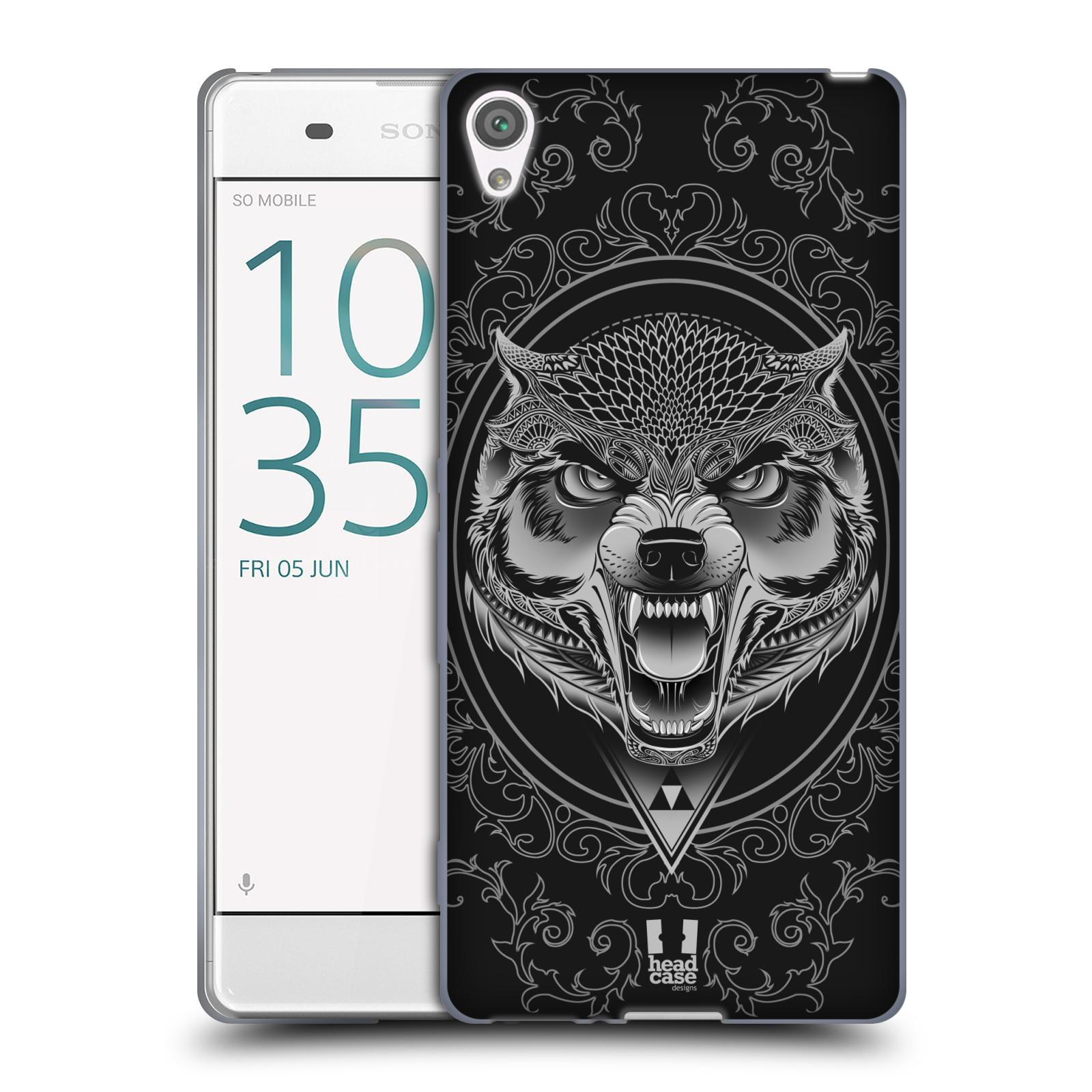 Silikonové pouzdro na mobil Sony Xperia XA - Head Case - Krutý vlk