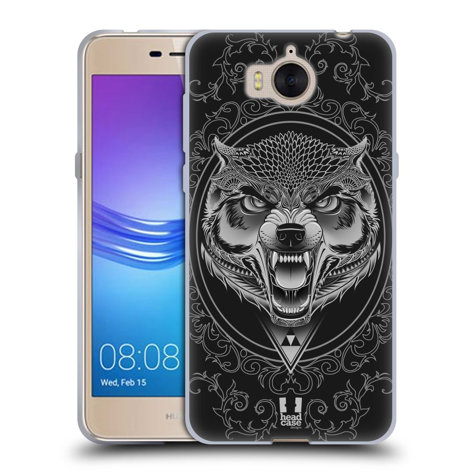 Silikonové pouzdro na mobil Huawei Y6 2017 - Head Case - Krutý vlk (Silikonový kryt či obal na mobilní telefon Huawei Y6 (2017) s motivem Krutý vlk)