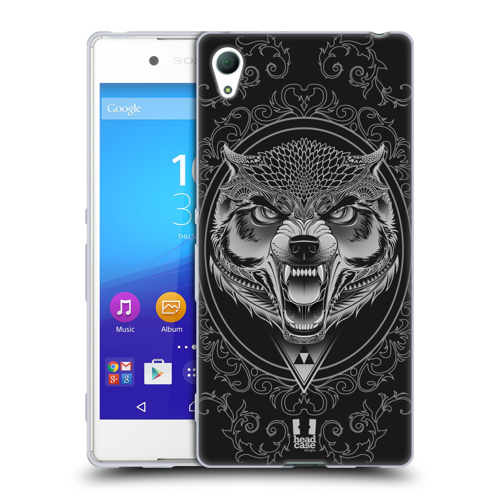 Silikonové pouzdro na mobil Sony Xperia Z3+ (Plus) - Head Case - Krutý vlk