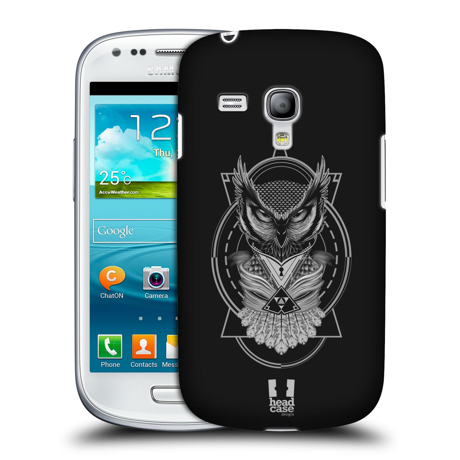 Silikonové pouzdro na mobil Samsung Galaxy S III Mini VE - Head Case - Krutá sova (Plastový kryt či obal na mobilní telefon s krutým motivem pro Samsung Galaxy S3 Mini VE GT-i8200)