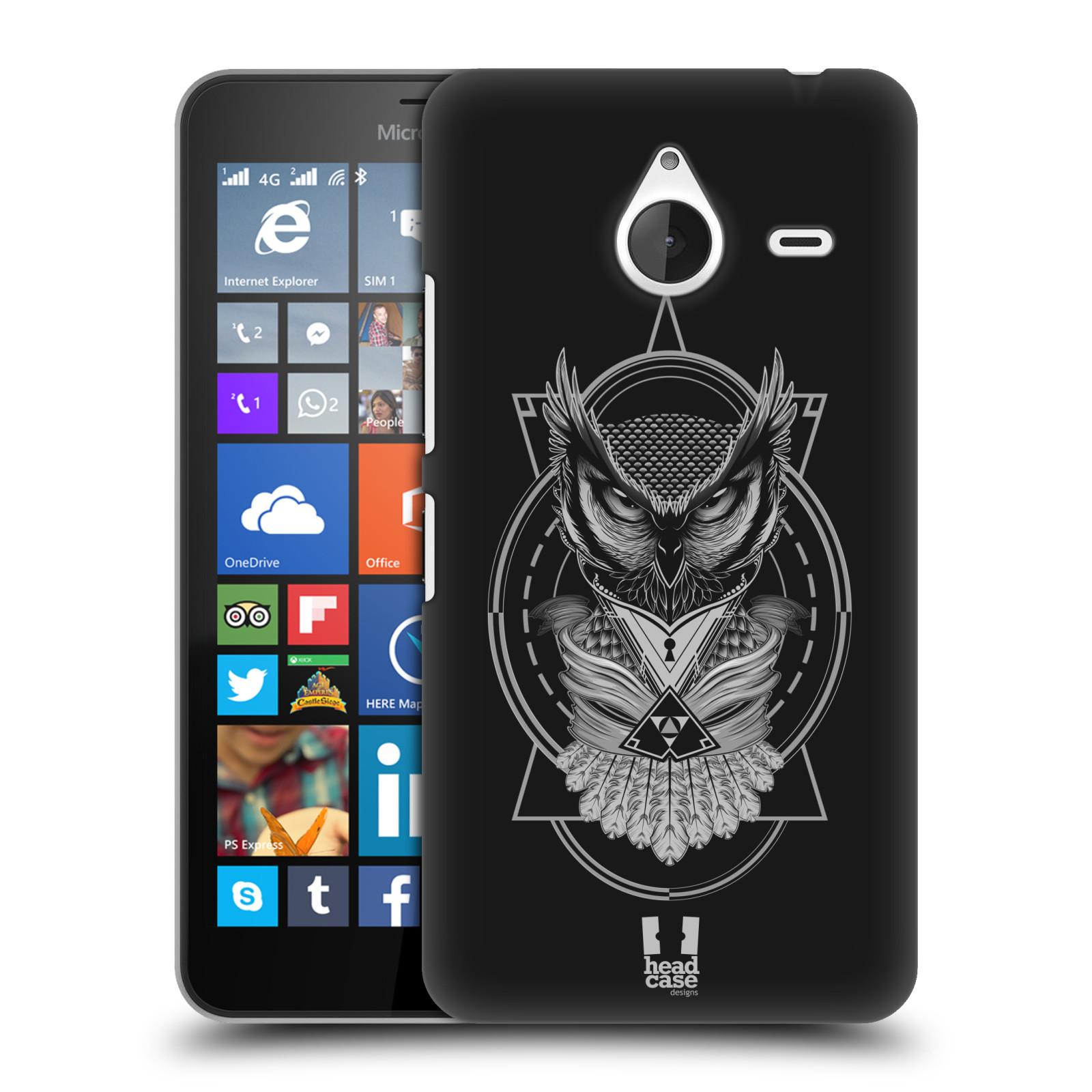 Plastové pouzdro na mobil Microsoft Lumia 640 XL - Head Case - Krutá sova (Plastový kryt či obal na mobilní telefon s krutým motivem pro Microsoft Lumia 640 XL)
