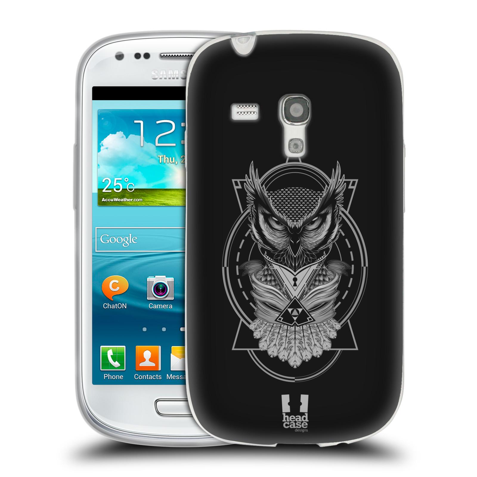 Silikonové pouzdro na mobil Samsung Galaxy S3 Mini VE - Head Case - Krutá sova (Silikonový kryt či obal na mobilní telefon s krutým motivem pro Samsung Galaxy S3 Mini VE GT-i8200)
