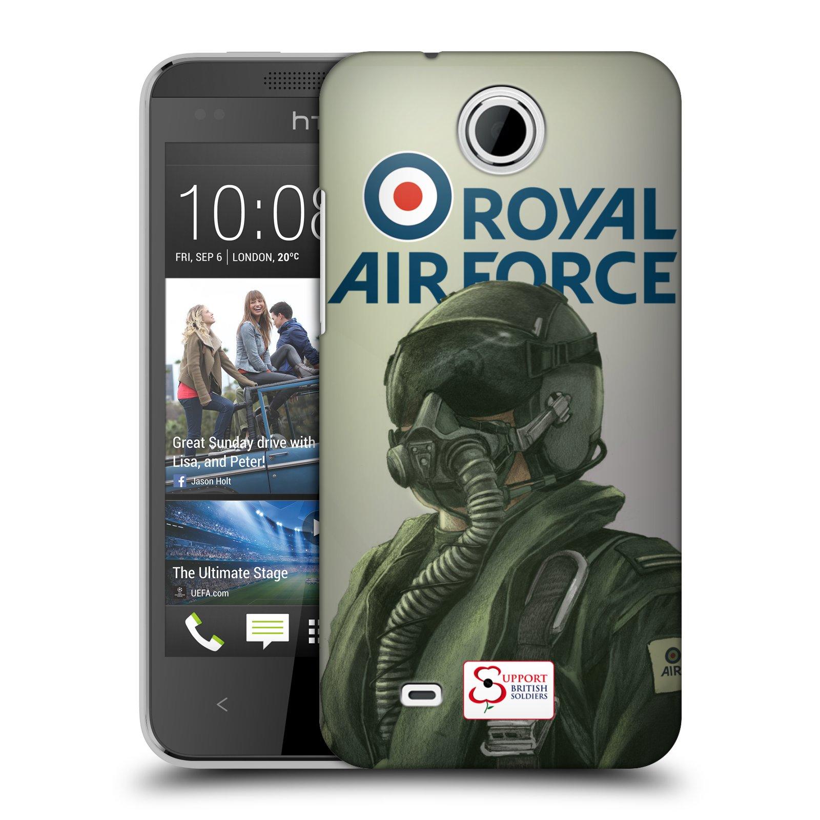 Plastové pouzdro na mobil HTC Desire 300 HEAD CASE Royal Air Force (Kryt či obal na mobilní telefon HTC Desire 300)