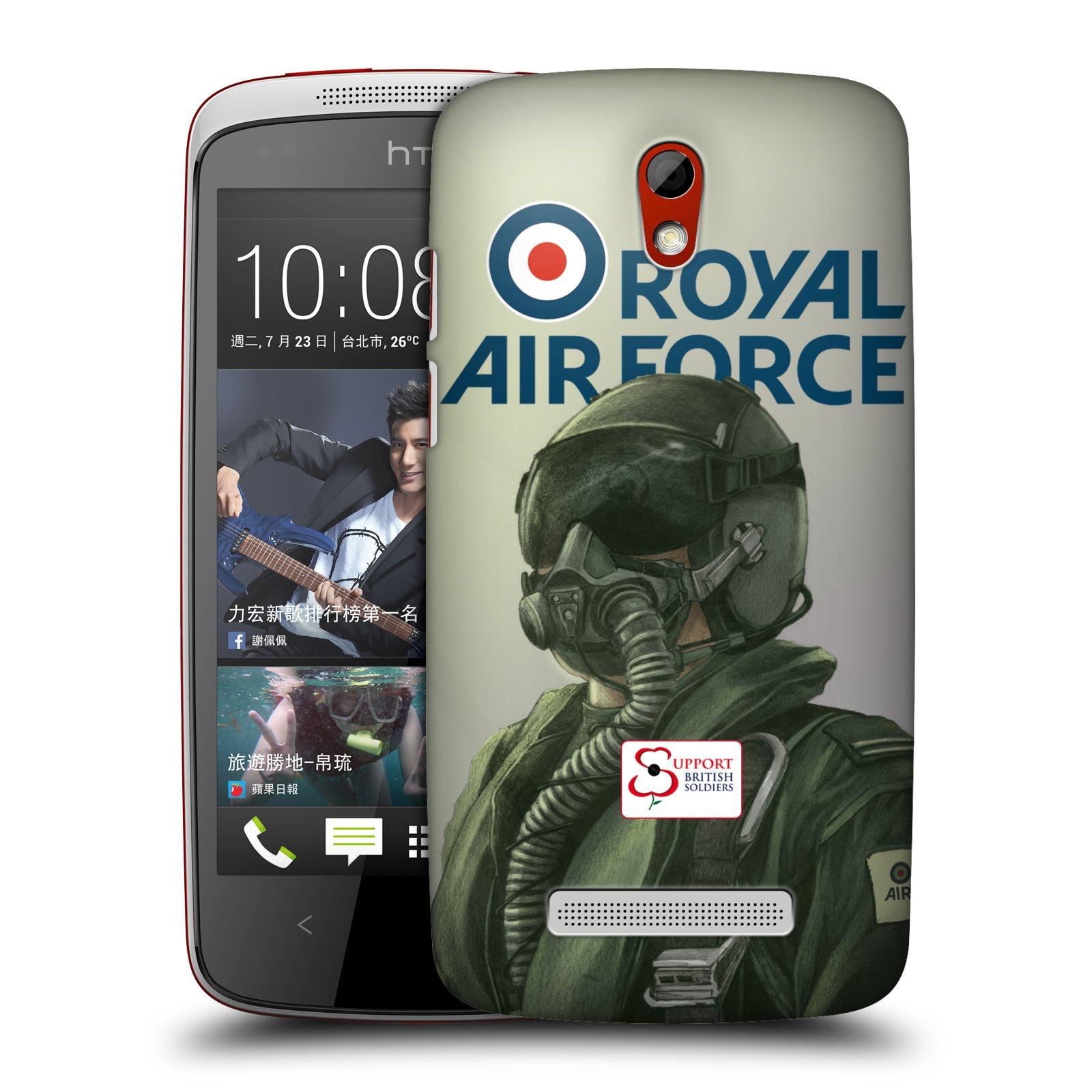 Plastové pouzdro na mobil HTC Desire 500 HEAD CASE Royal Air Force (Kryt či obal na mobilní telefon HTC Desire 500)
