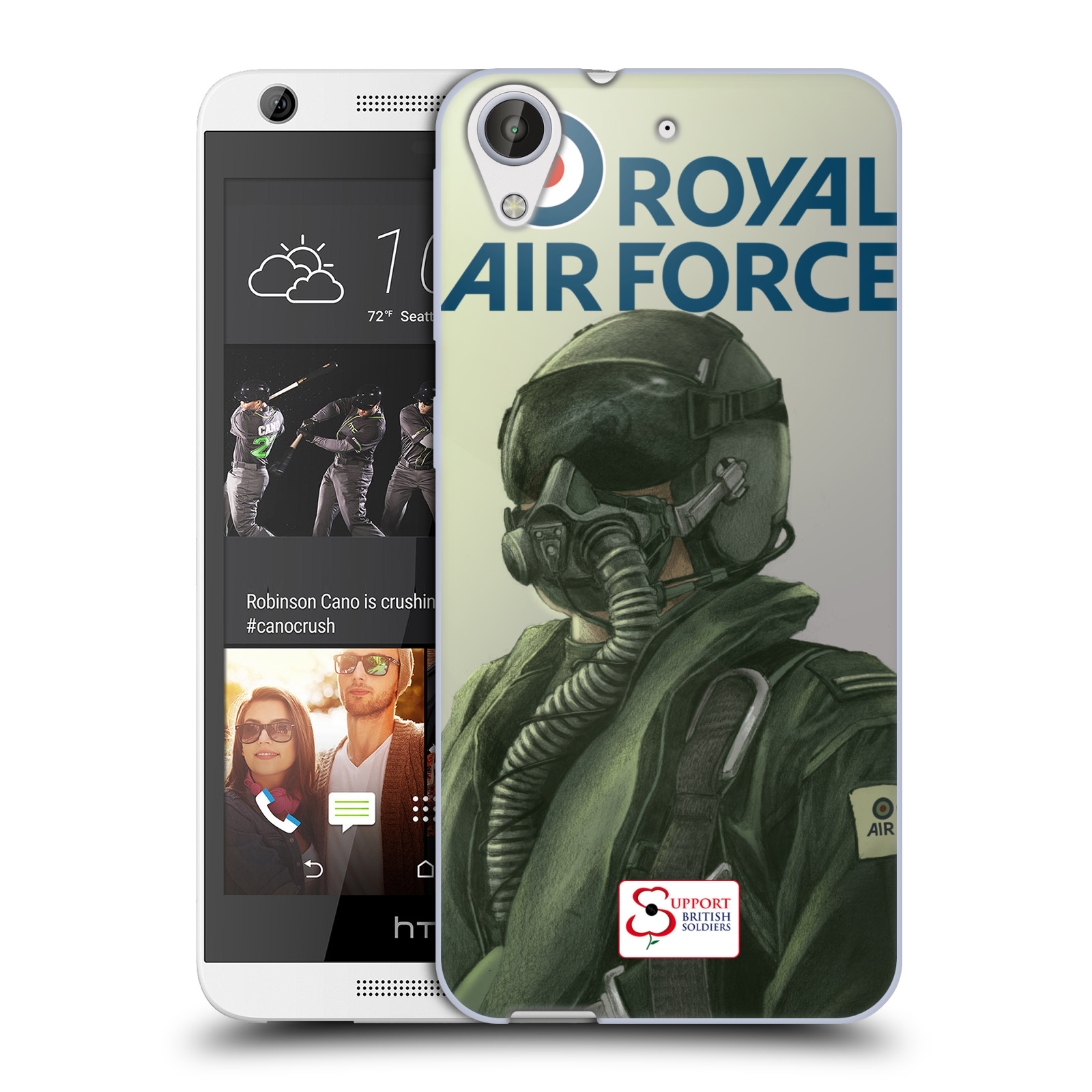 Silikonové pouzdro na mobil HTC Desire 626 / 626G HEAD CASE Royal Air Force (Silikonový kryt či obal na mobilní telefon HTC Desire 626 a 626G Dual SIM)