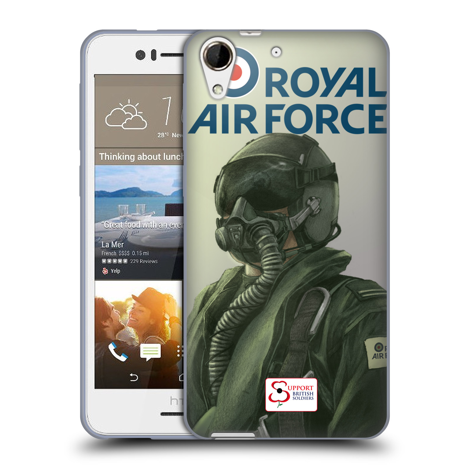 Silikonové pouzdro na mobil HTC Desire 728G Dual SIM HEAD CASE Royal Air Force (Silikonový kryt či obal na mobilní telefon HTC Desire 728 G Dual SIM)