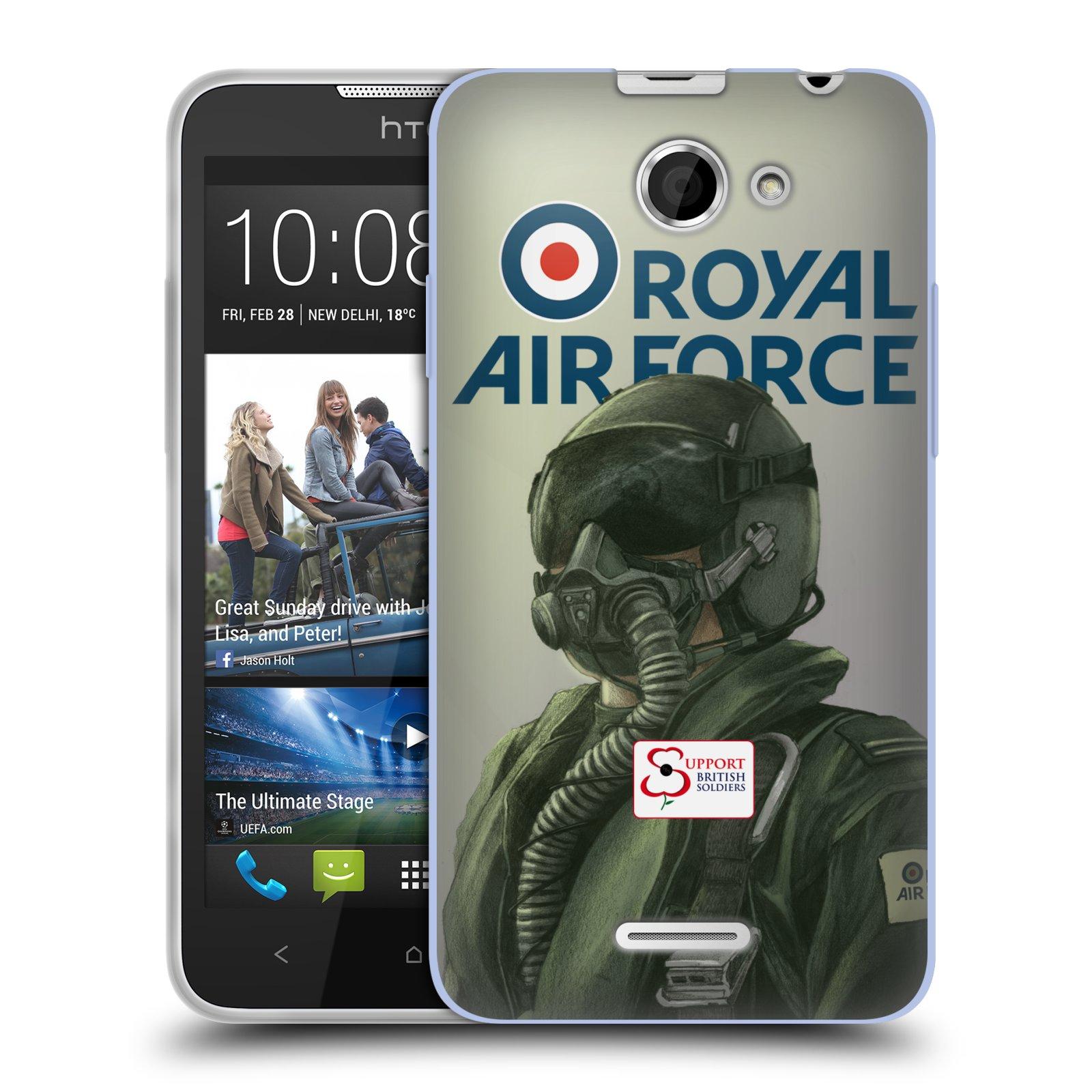 Silikonové pouzdro na mobil HTC Desire 516 HEAD CASE Royal Air Force (Silikonový kryt či obal na mobilní telefon HTC Desire 516 Dual SIM)