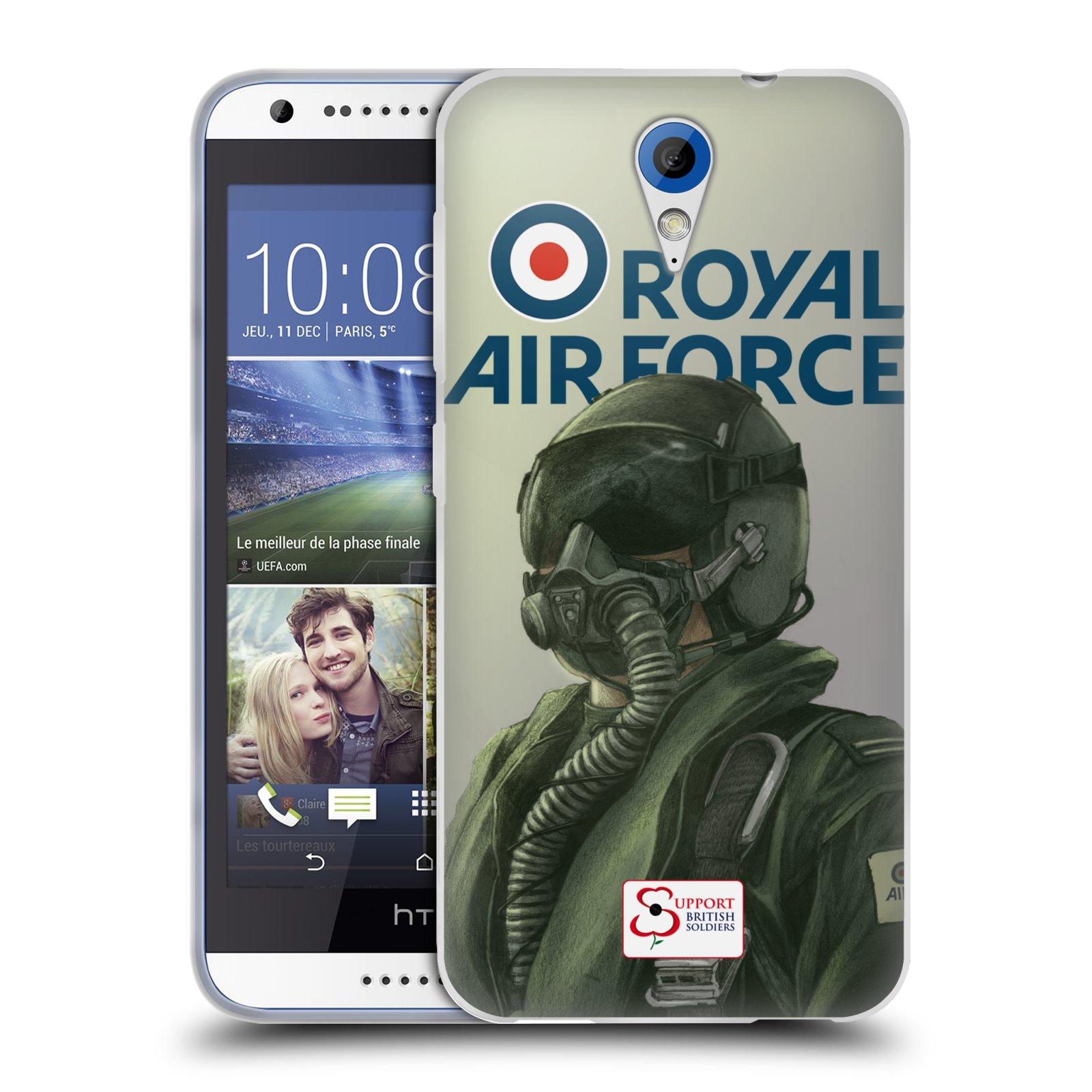Silikonové pouzdro na mobil HTC Desire 620 HEAD CASE Royal Air Force (Silikonový kryt či obal na mobilní telefon HTC Desire 620)