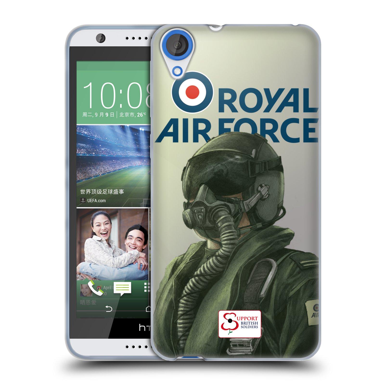 Silikonové pouzdro na mobil HTC Desire 820 HEAD CASE Royal Air Force (Silikonový kryt či obal na mobilní telefon HTC Desire 820)