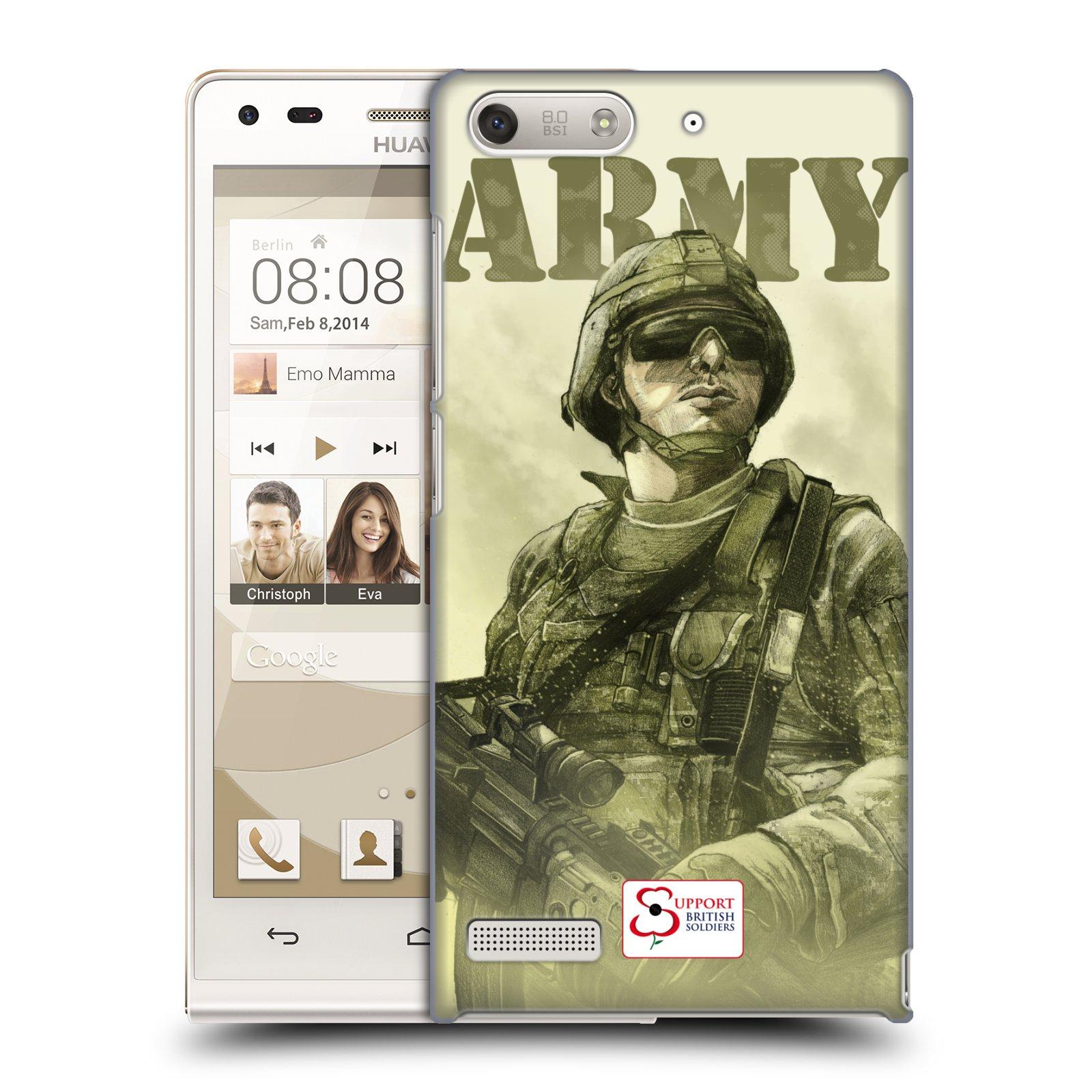 Plastové pouzdro na mobil Huawei Ascend G6 HEAD CASE BRITISH ARMY (Kryt či obal na mobilní telefon Huawei Ascend G6 bez LTE)