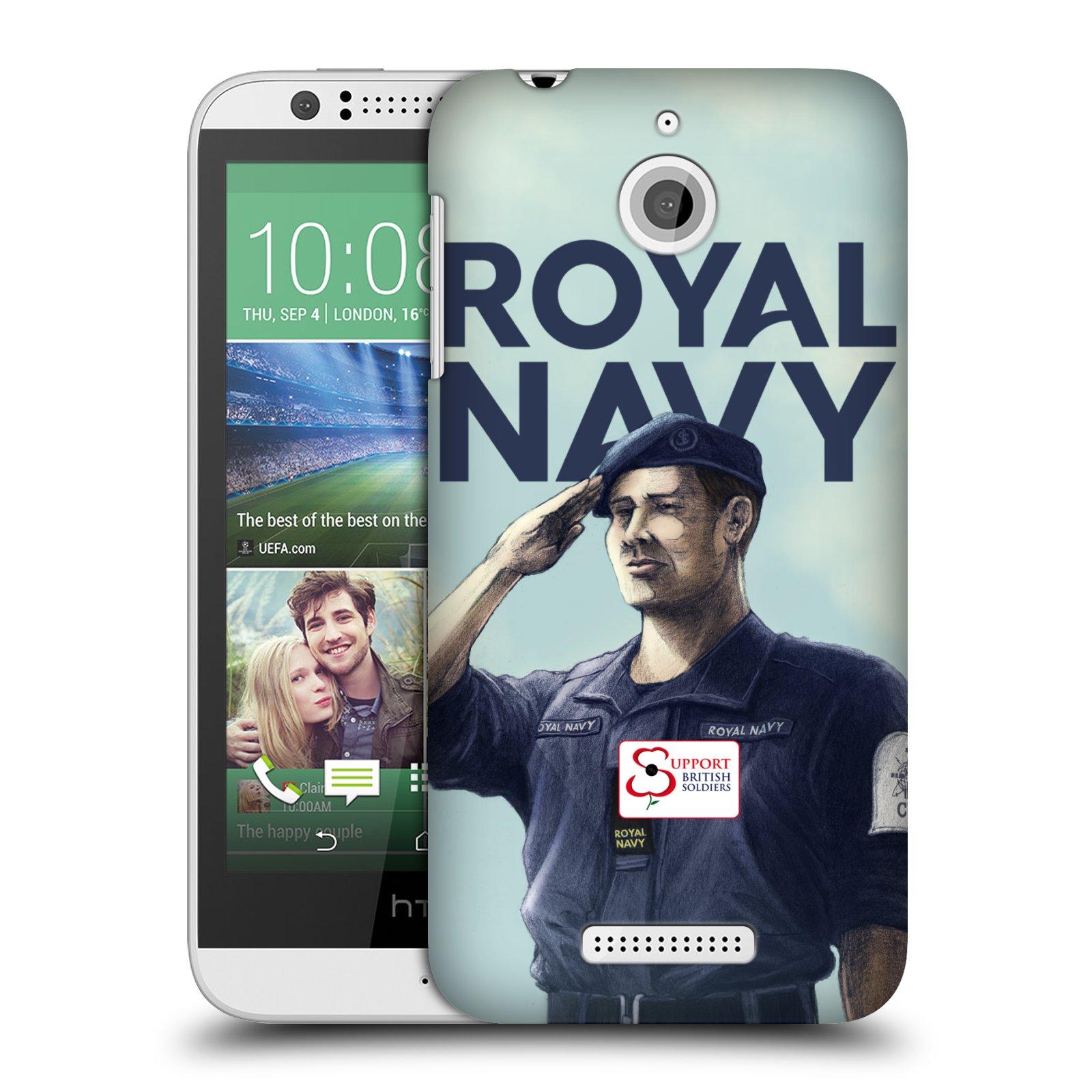 Plastové pouzdro na mobil HTC Desire 510 HEAD CASE ROYAL NAVY (Kryt či obal na mobilní telefon HTC Desire 510)