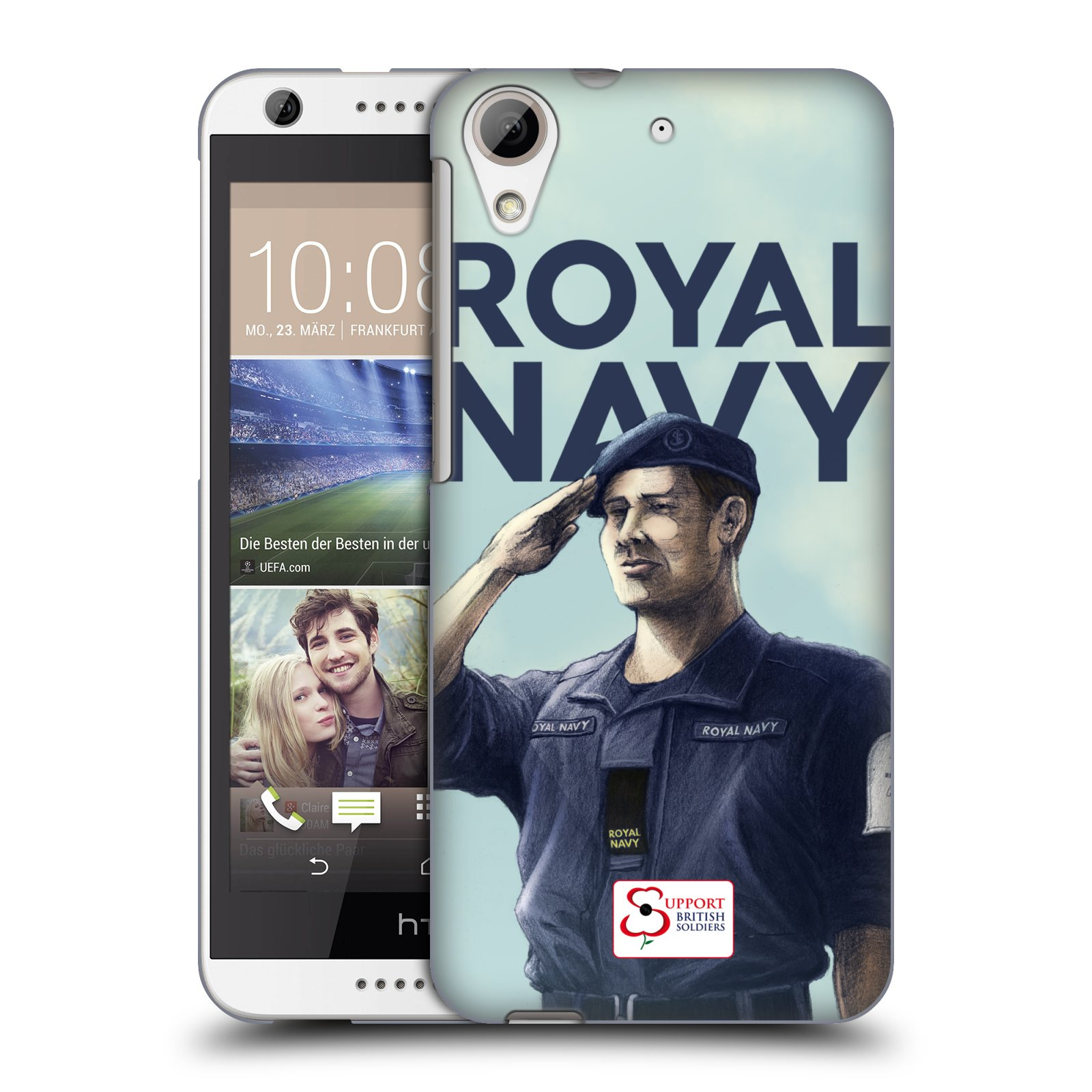 Plastové pouzdro na mobil HTC Desire 626 / 626G HEAD CASE ROYAL NAVY (Kryt či obal na mobilní telefon HTC Desire 626G Dual SIM a HTC Desire 626)