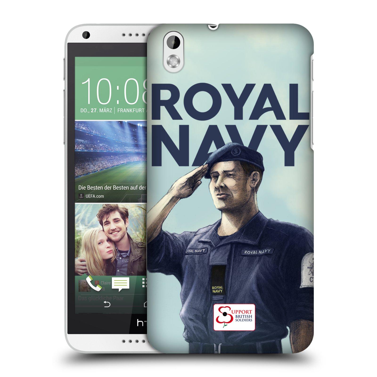 Plastové pouzdro na mobil HTC Desire 816 HEAD CASE ROYAL NAVY (Kryt či obal na mobilní telefon HTC Desire 816)