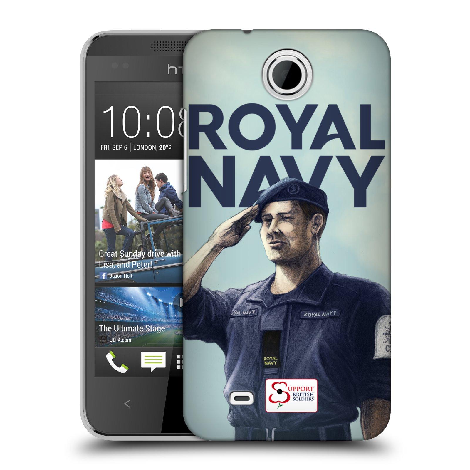 Plastové pouzdro na mobil HTC Desire 300 HEAD CASE ROYAL NAVY (Kryt či obal na mobilní telefon HTC Desire 300)