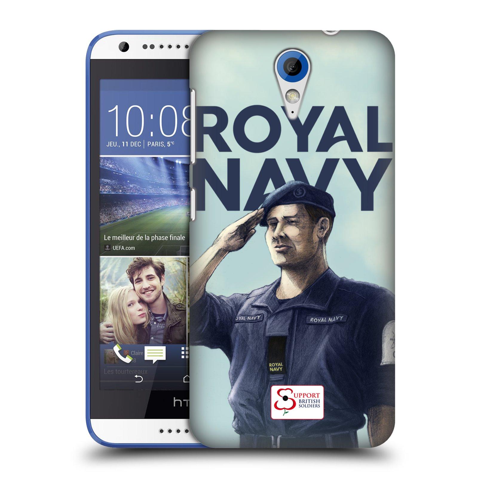 Plastové pouzdro na mobil HTC Desire 620 HEAD CASE ROYAL NAVY (Kryt či obal na mobilní telefon HTC Desire 620)