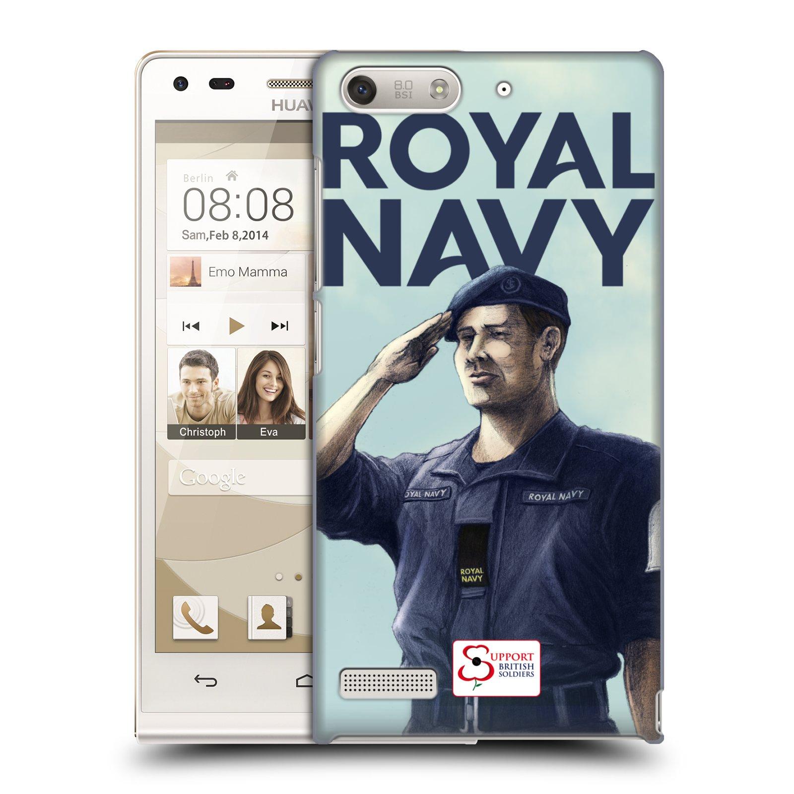 Plastové pouzdro na mobil Huawei Ascend G6 HEAD CASE ROYAL NAVY (Kryt či obal na mobilní telefon Huawei Ascend G6 bez LTE)
