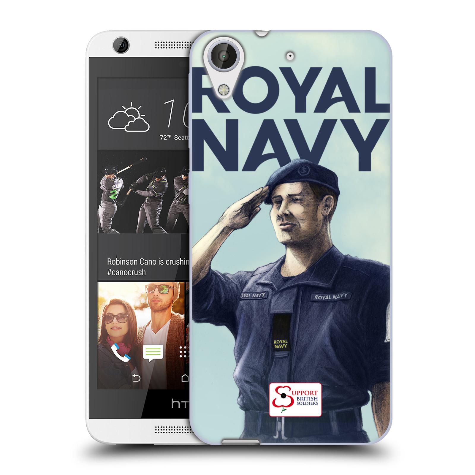Silikonové pouzdro na mobil HTC Desire 626 / 626G HEAD CASE ROYAL NAVY (Silikonový kryt či obal na mobilní telefon HTC Desire 626 a 626G Dual SIM)