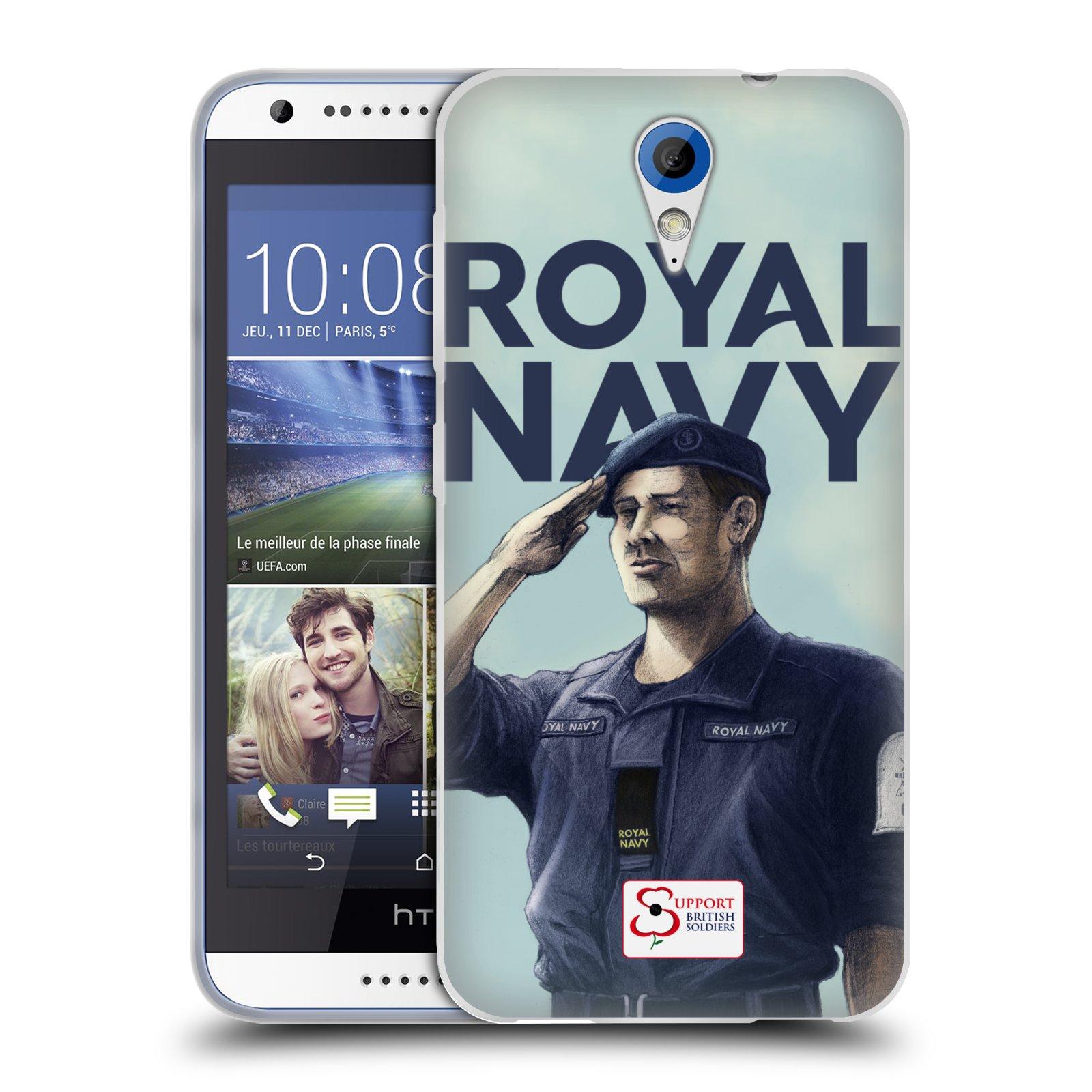 Silikonové pouzdro na mobil HTC Desire 620 HEAD CASE ROYAL NAVY (Silikonový kryt či obal na mobilní telefon HTC Desire 620)