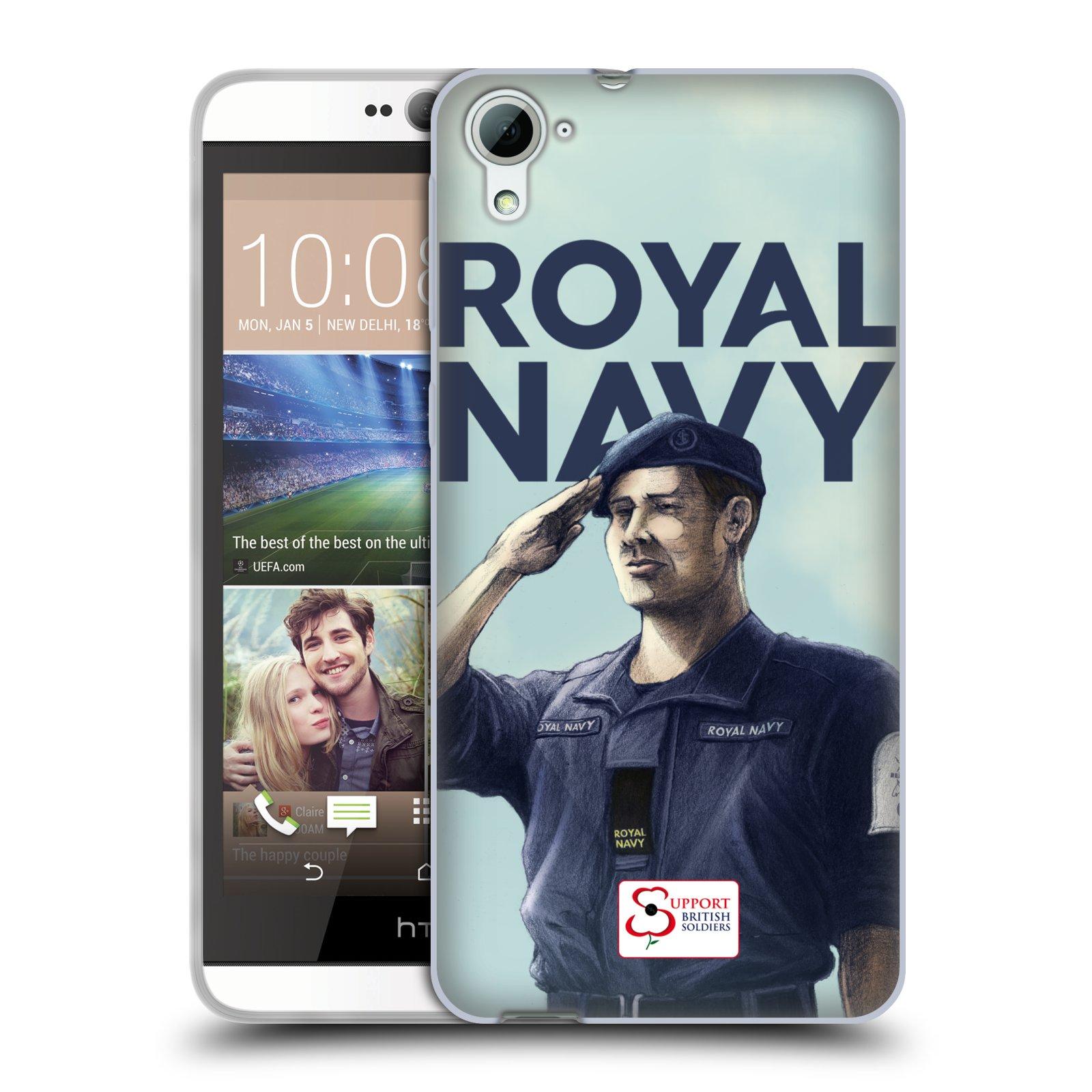 Silikonové pouzdro na mobil HTC Desire 826 HEAD CASE ROYAL NAVY (Silikonový kryt či obal na mobilní telefon HTC Desire 826 Dual SIM)