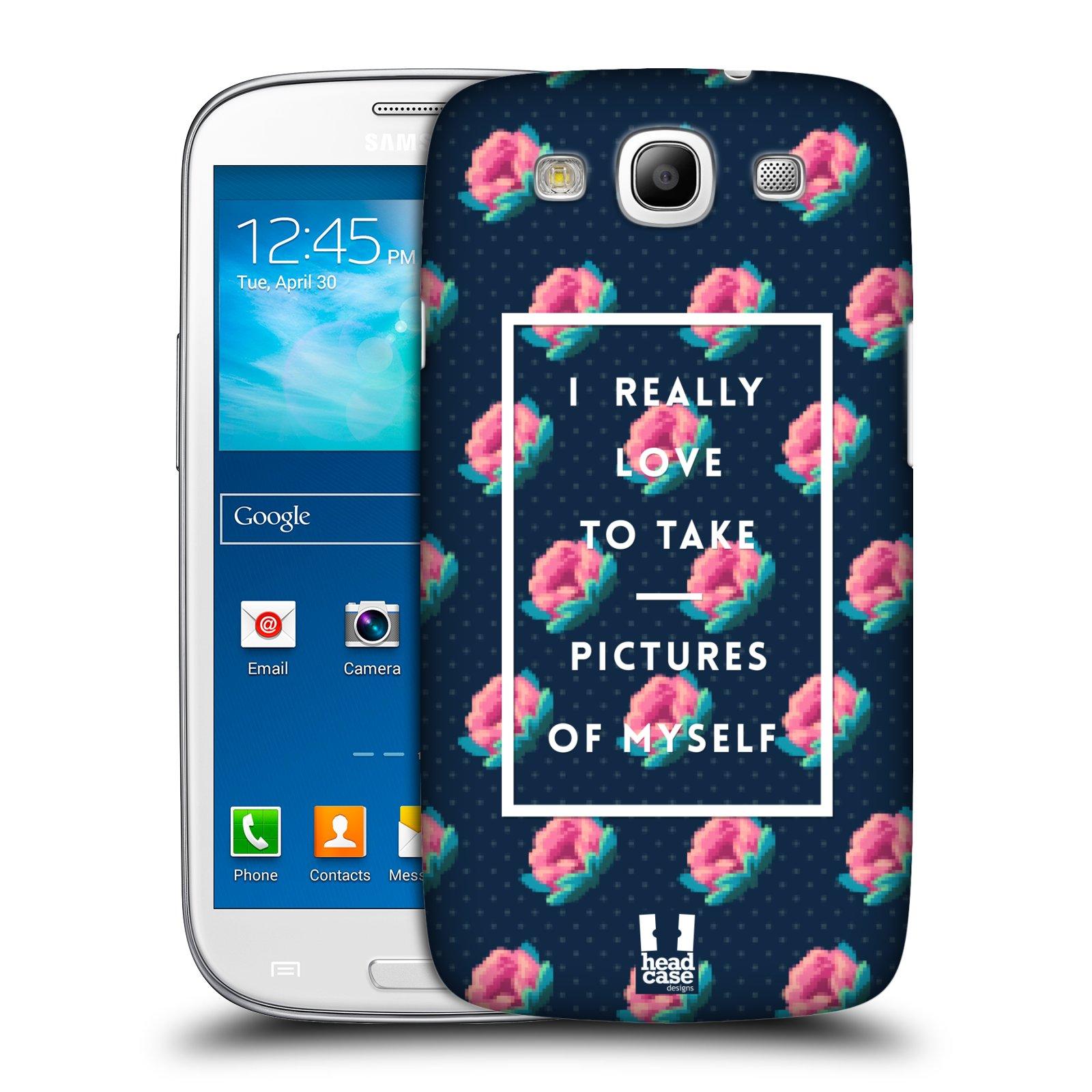 Plastové pouzdro na mobil Samsung Galaxy S III HEAD CASE SELFIE I LOVE (Kryt či obal na mobilní telefon Samsung Galaxy S III GT-i9300)