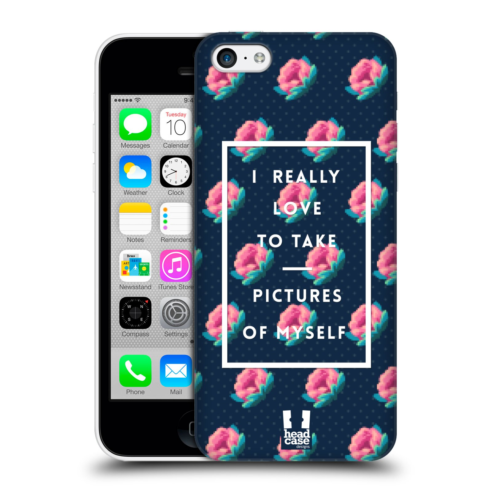 Plastové pouzdro na mobil Apple iPhone 5C HEAD CASE SELFIE I LOVE