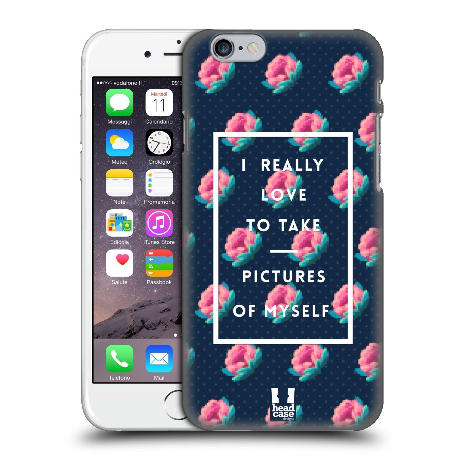 Plastové pouzdro na mobil Apple iPhone 6 a 6S HEAD CASE SELFIE I LOVE