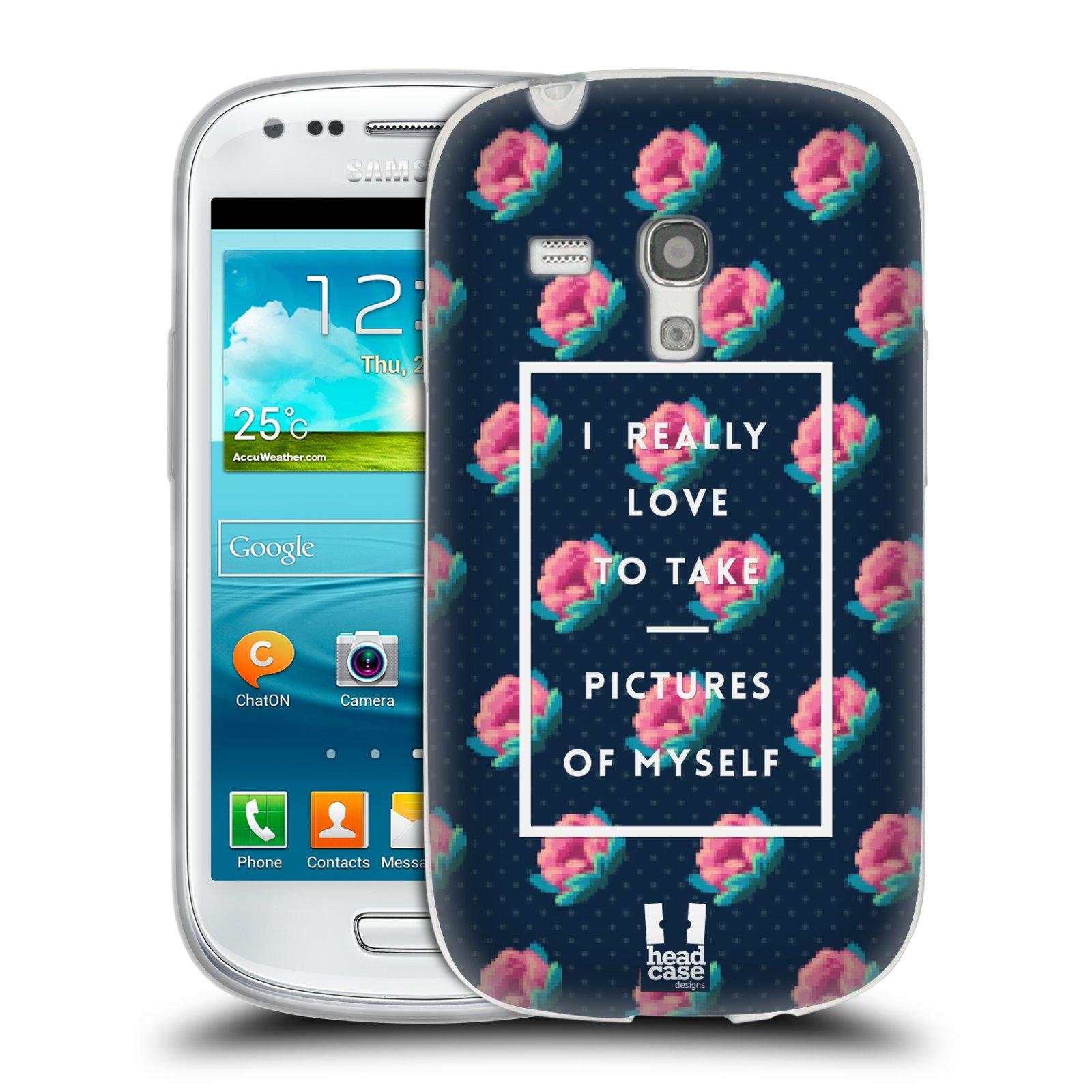 Silikonové pouzdro na mobil Samsung Galaxy S III Mini HEAD CASE SELFIE I LOVE (Silikonový kryt či obal na mobilní telefon Samsung Galaxy S III Mini GT-i8190)
