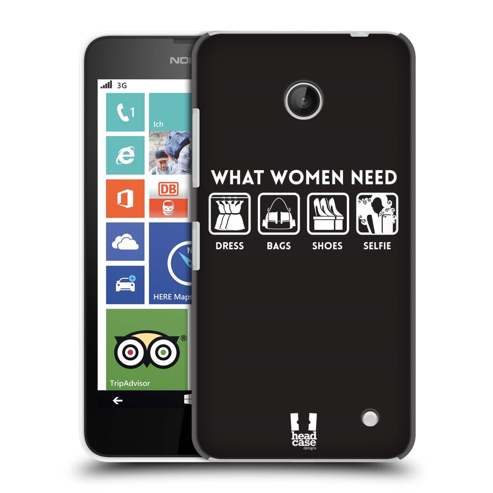 Plastové pouzdro na mobil Nokia Lumia 630 HEAD CASE POTŘEBY ŽENY (Kryt či obal na mobilní telefon Nokia Lumia 630 a Nokia Lumia 630 Dual SIM)
