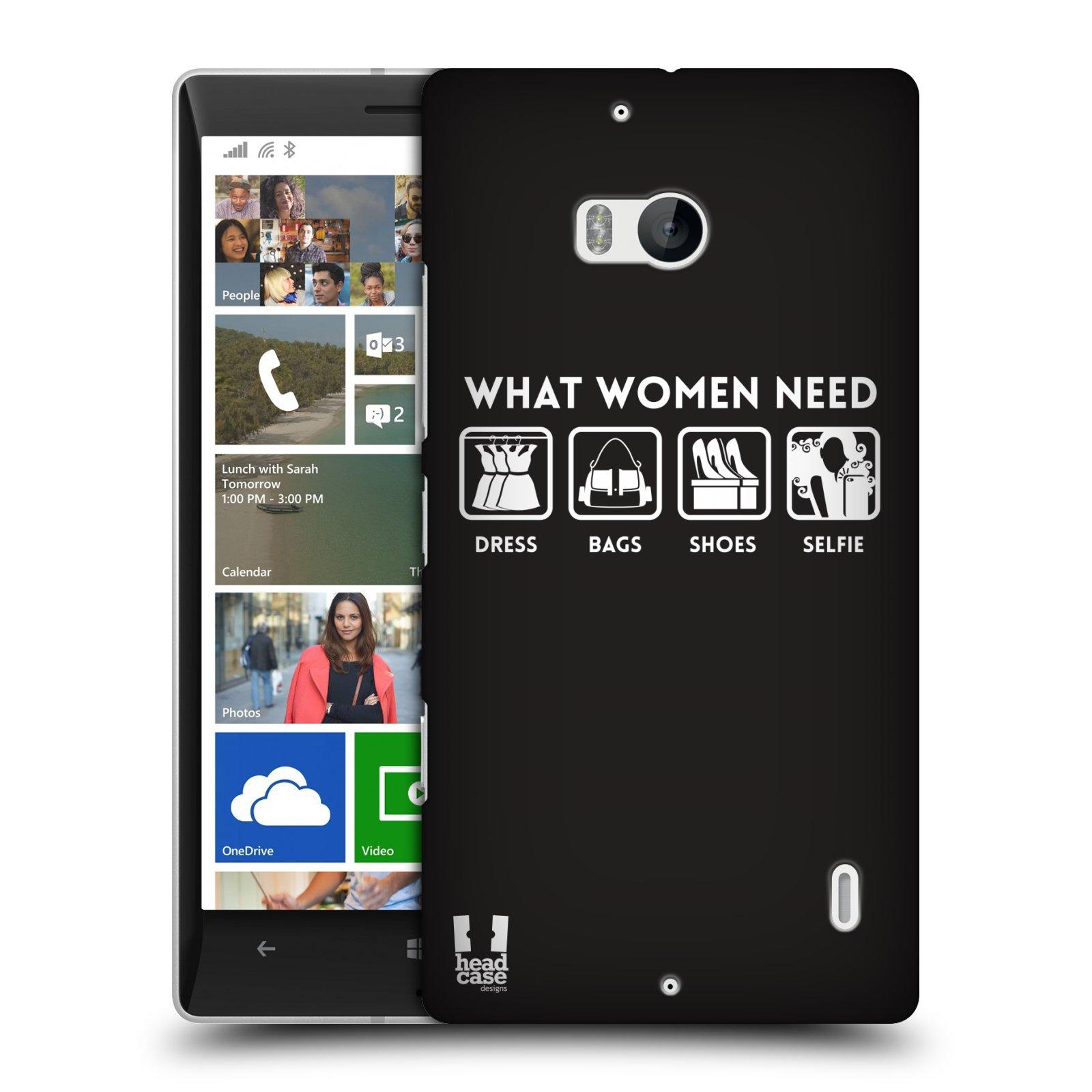 Pouzdro na mobil Nokia Lumia 930 HEAD CASE POTŘEBY ŽENY (Kryt či obal na mobilní telefon Nokia Lumia 930)