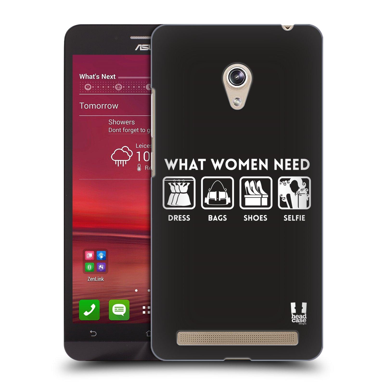 Plastové pouzdro na mobil Asus Zenfone 6 HEAD CASE POTŘEBY ŽENY (Kryt či obal na mobilní telefon Asus Zenfone 6 A600CG / A601CG)
